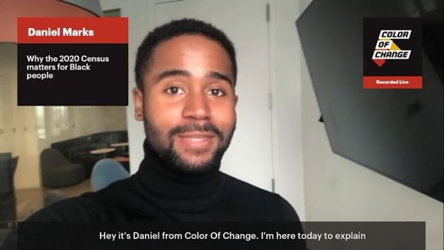 April 1st is #CensusDay of Action! COC's @braxdan_ explains what's at stake for Black communities when the #2020Census starts one year from today.   Want to help get the word out about the #Census? Record a video about why you think it's important Black people #GetCounted! Go to the link below, also in our bio.  https://yourvoice.colorofchange.org/record/blackcensus