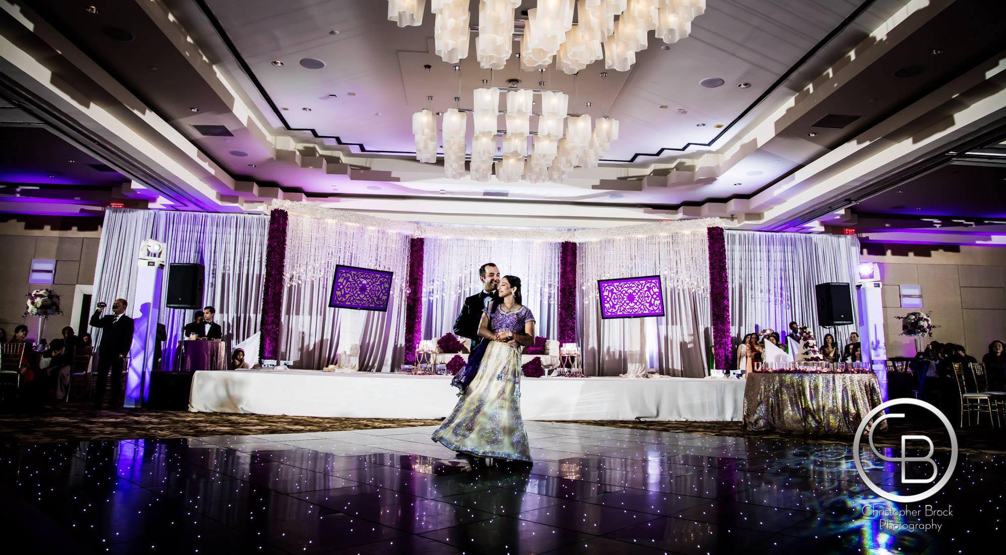 Shreya Raj - My family and I had a wonderful experience working with Shushil and the UE team. Shushil is extremely responsive and dedicated to making your event look the way you want it to look. I admit I was quite picky about flower choice, table linens, the height of centerpieces/aisleway decor and Shushil made every effort to accommodate every single request. He is also extremely organized and professional, and even if our meetings went for hours, I never felt rushed by him. We received a ton of compliments on our wedding decor, and I would certainly recommend him to family and friends.
