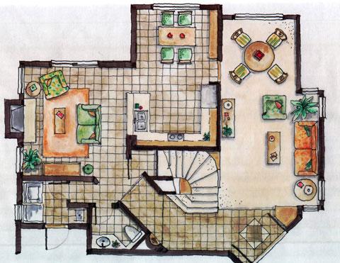 Ground Floor Plan (Rendering)