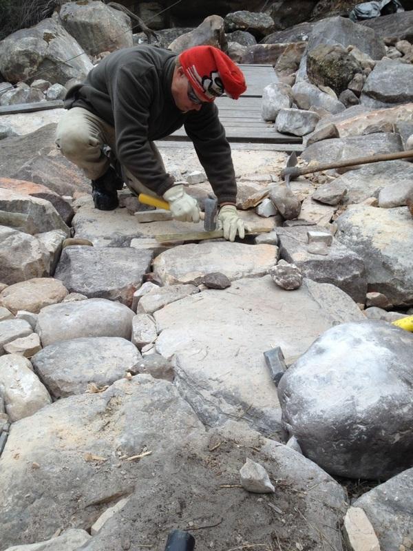 Drystone paving