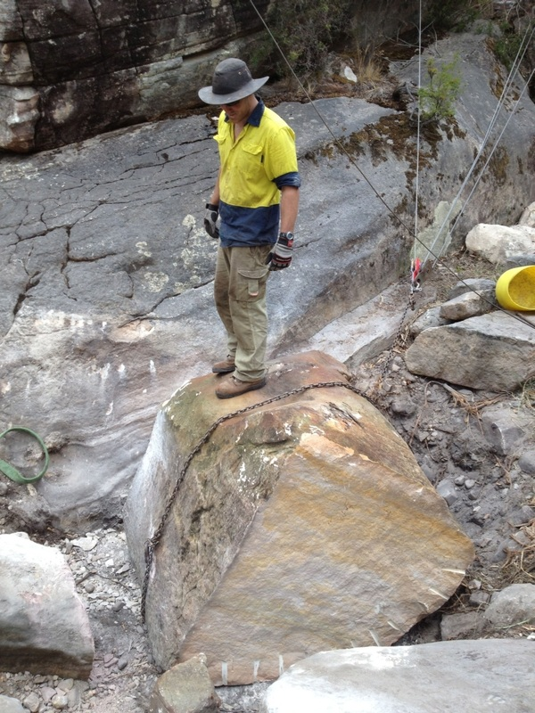 Moving a giant boulder