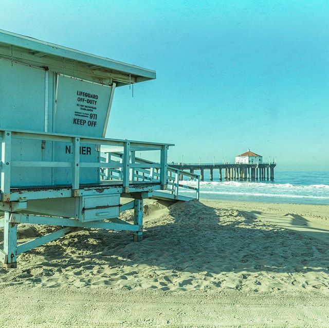 Playing with the post processing on this image from last weekends photowalk in Manhattan Beach to make it look aged. #wwpw2019 #manhattanbeach #california #beach #pier #lifeguardshack #visitcalifornia #canon