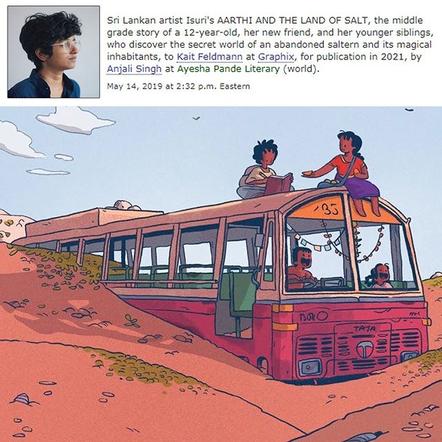 Thrilled to finally announce my first graphic novel acquisition!! Isuri created a breathtaking Google Doodle for International Women's Day last year and I wrote to her begging for more! We've been working quietly together on fleshing out Aarthi's comic into a full graphic novel and I couldn't be more excited or inspired by the story she's created. It has been such a treat to spend time in her magical world with her lovable characters. I can't wait for you all to be able to share this adventure with us!!! 🧡