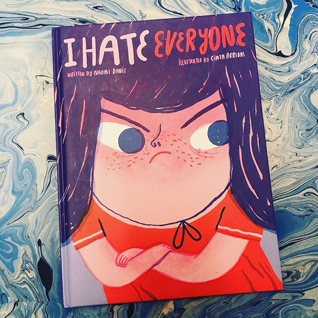"""Picked this up recently and it quickly became one of my favorite picture books. """"You say I am perfect, I am just right. But I am not. I don't feel just right. I feel like a fight."""" I HATE EVERYONE written by Naomi Danis, illustrated by Cintra Arribas (POW!, 2018)"""