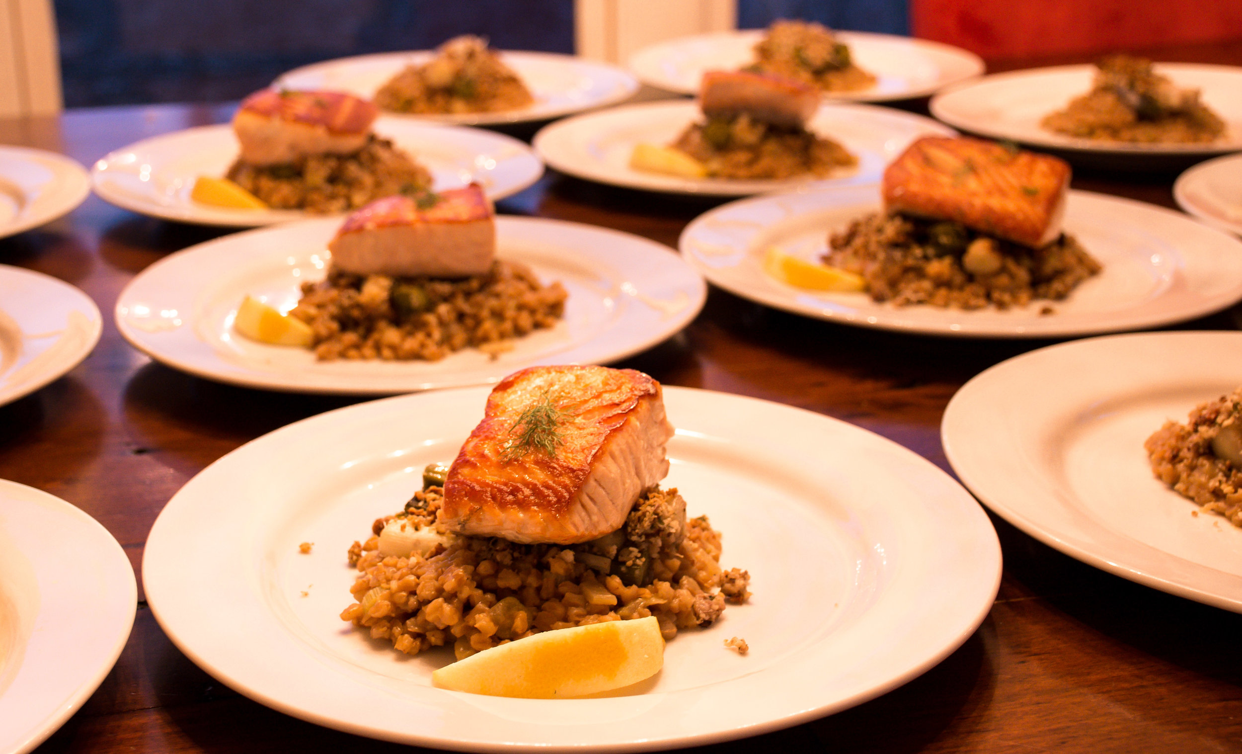 Winter Salmon Entree