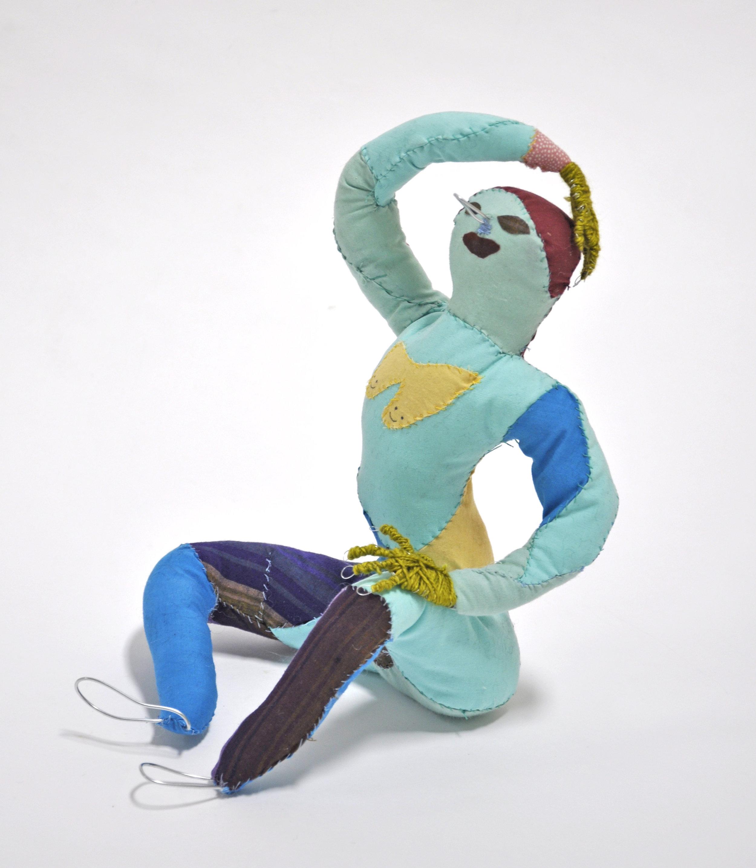 "Maria Guzmán Capron, ""Burbuja"", 2018, Wire, Batting, Fabric, Thread, Yarn, 11 x 9 x 8in"