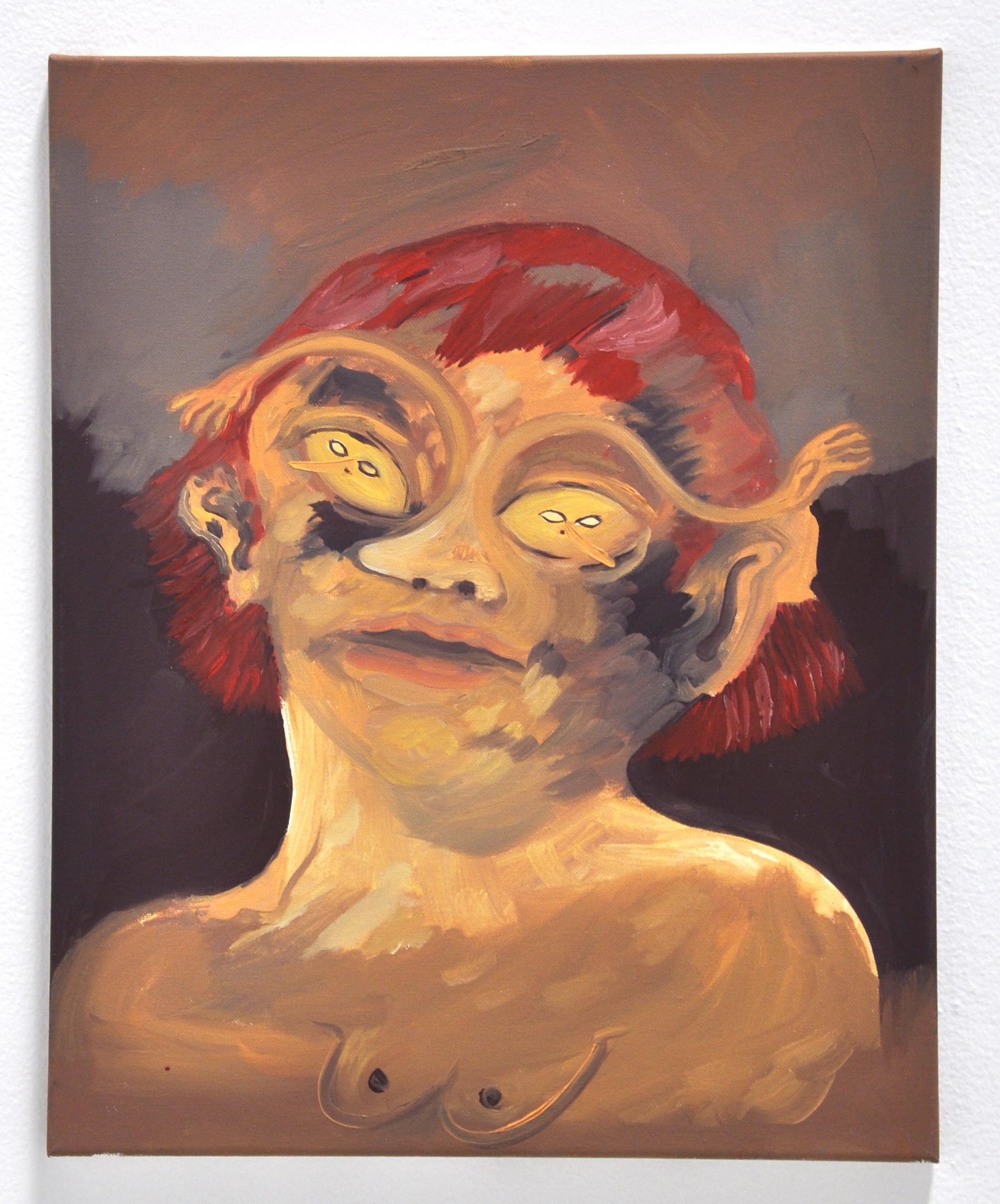 "Maria Guzmán Capron, ""Espejo 2"", 2018, Oil on canvas, 20 x 16in"