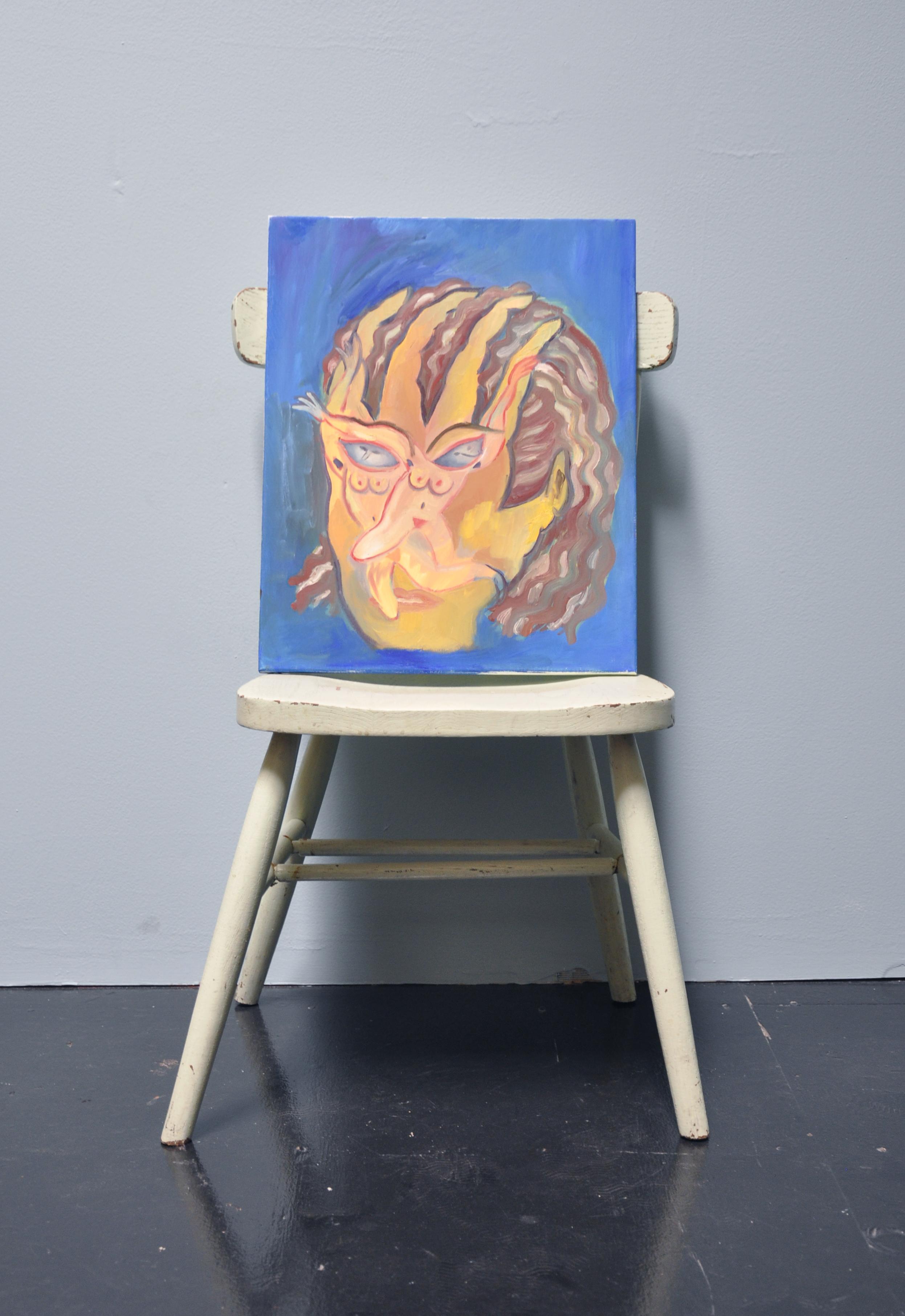 "Maria Guzmán Capron, ""Espejo 3"", 2018, Oil on canvas, 20 x 16in"
