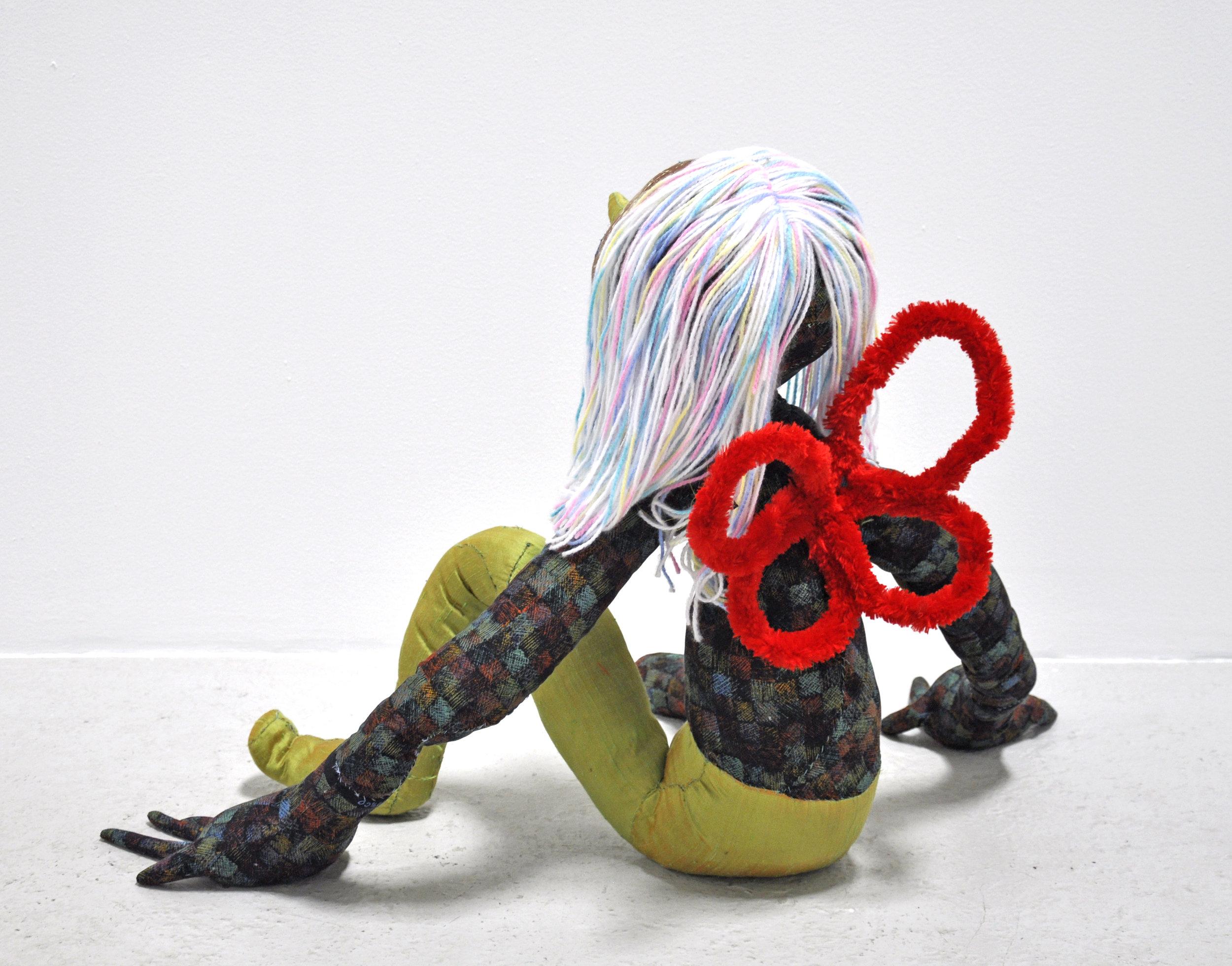 "Maria Guzmán Capron, ""Hada"", 2018, Wire, Batting, Fabric, Thread, Yarn, 28 x 24 x 42in"
