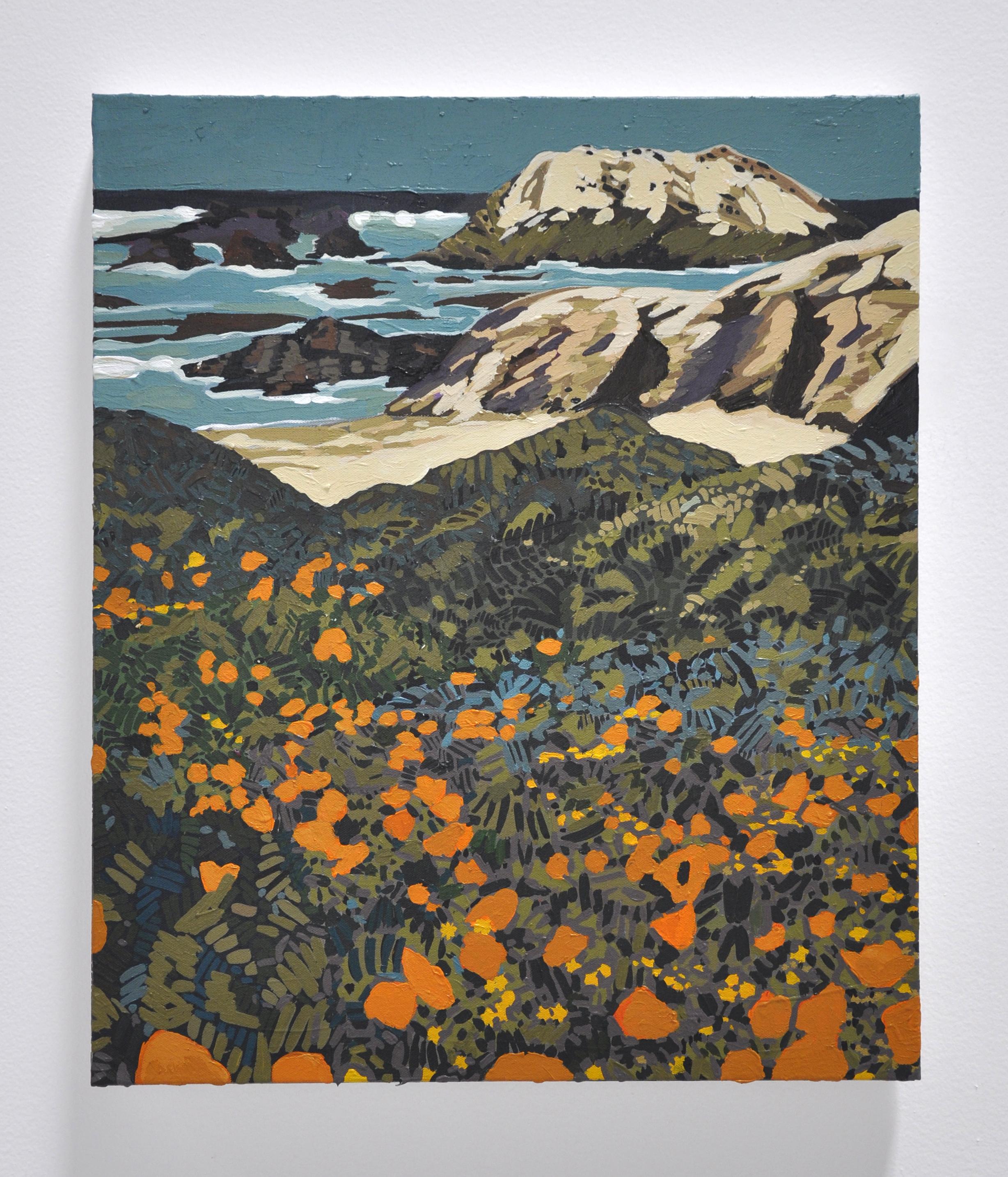 """Hilary Pecis, """"California Coast"""", 2018, Acrylic on Canvas, 24 x 20in"""