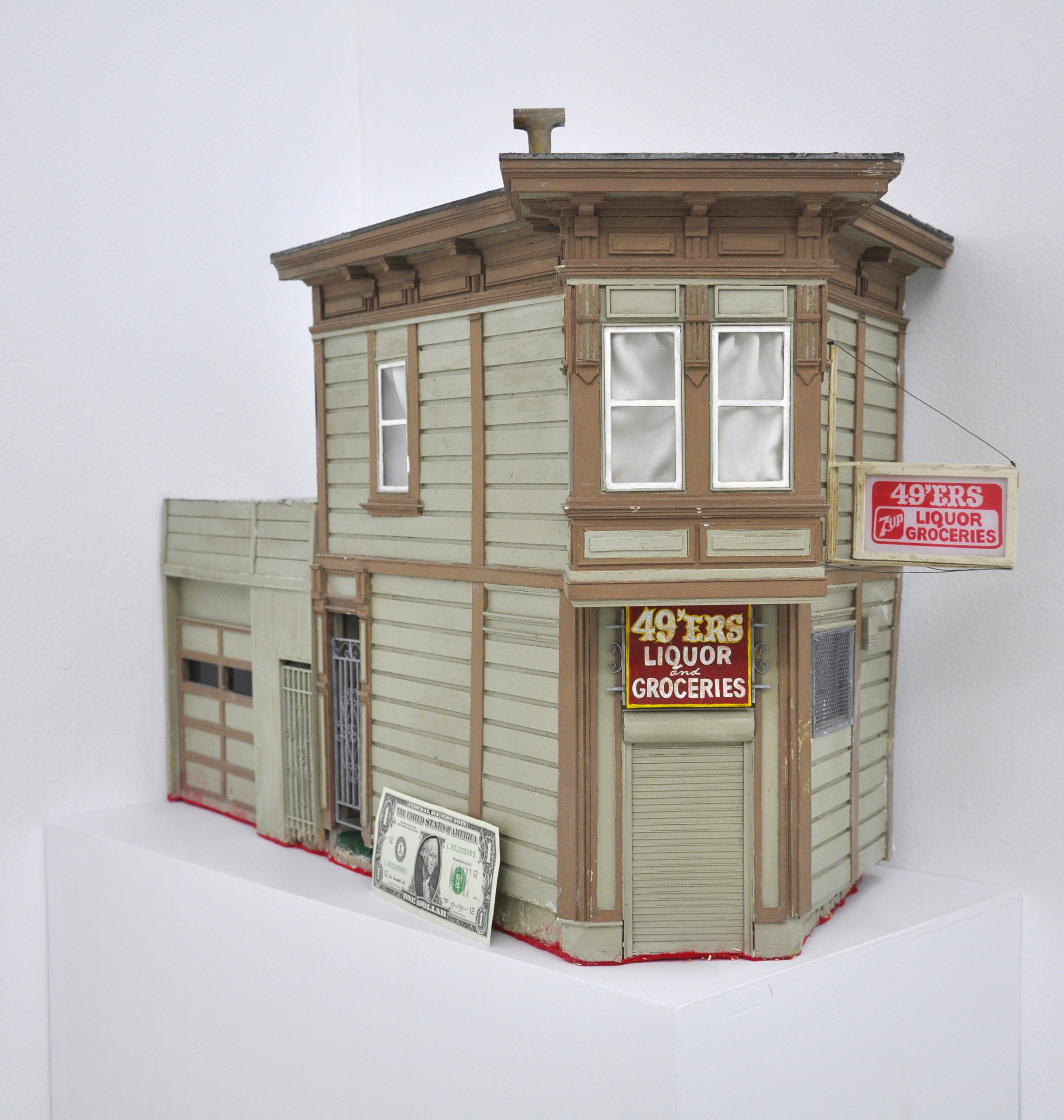 Malcolm Kenter, 49ers Liquor and Groceries, 2017, Latex on Wood, Metal, Plastic, 26 x 18.5 x 16in