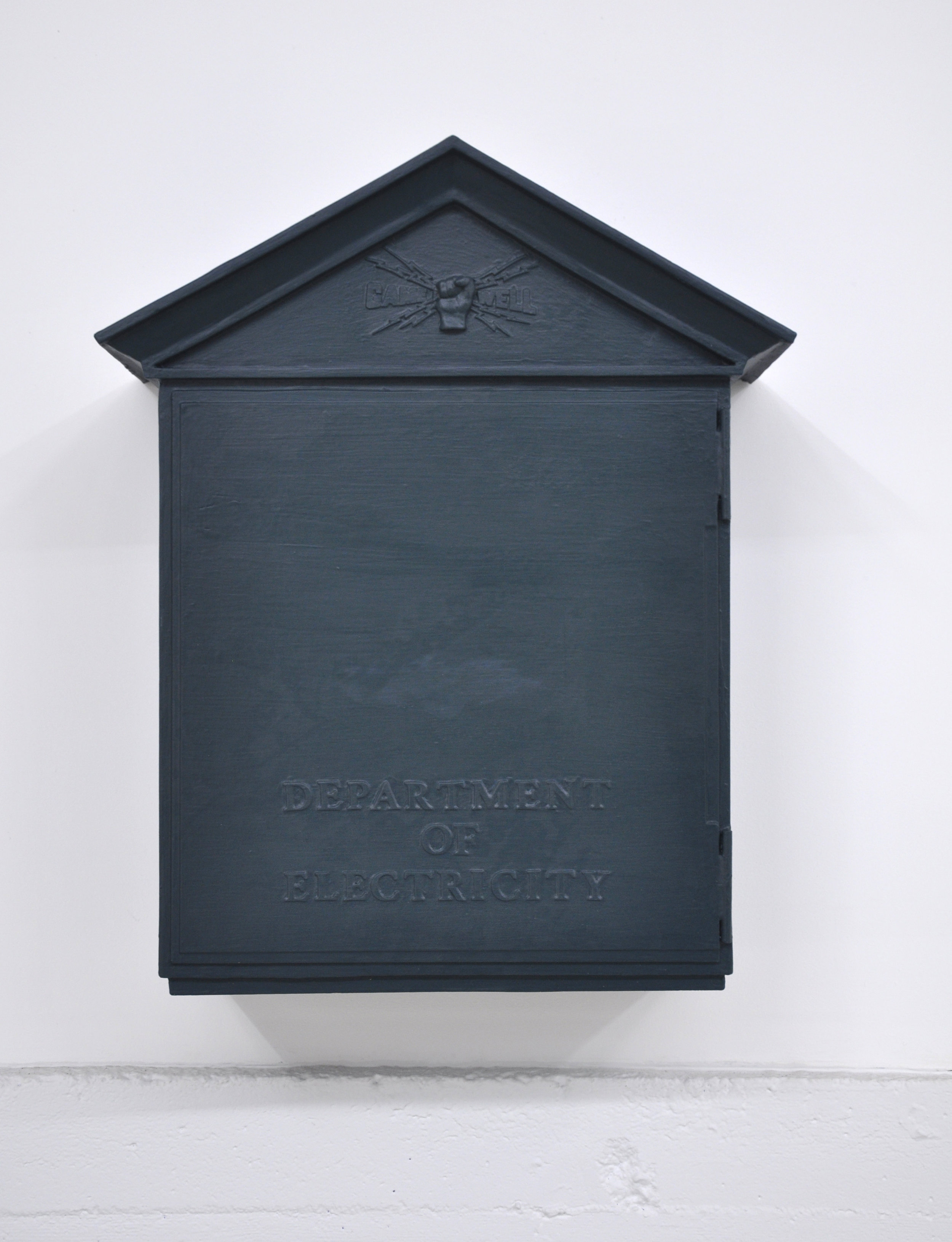 Malcolm Kenter, Game Well Box, 2019, Latex on Plasticine, Wood, Foam, Plastic, 34.25 x 10 x 28 in