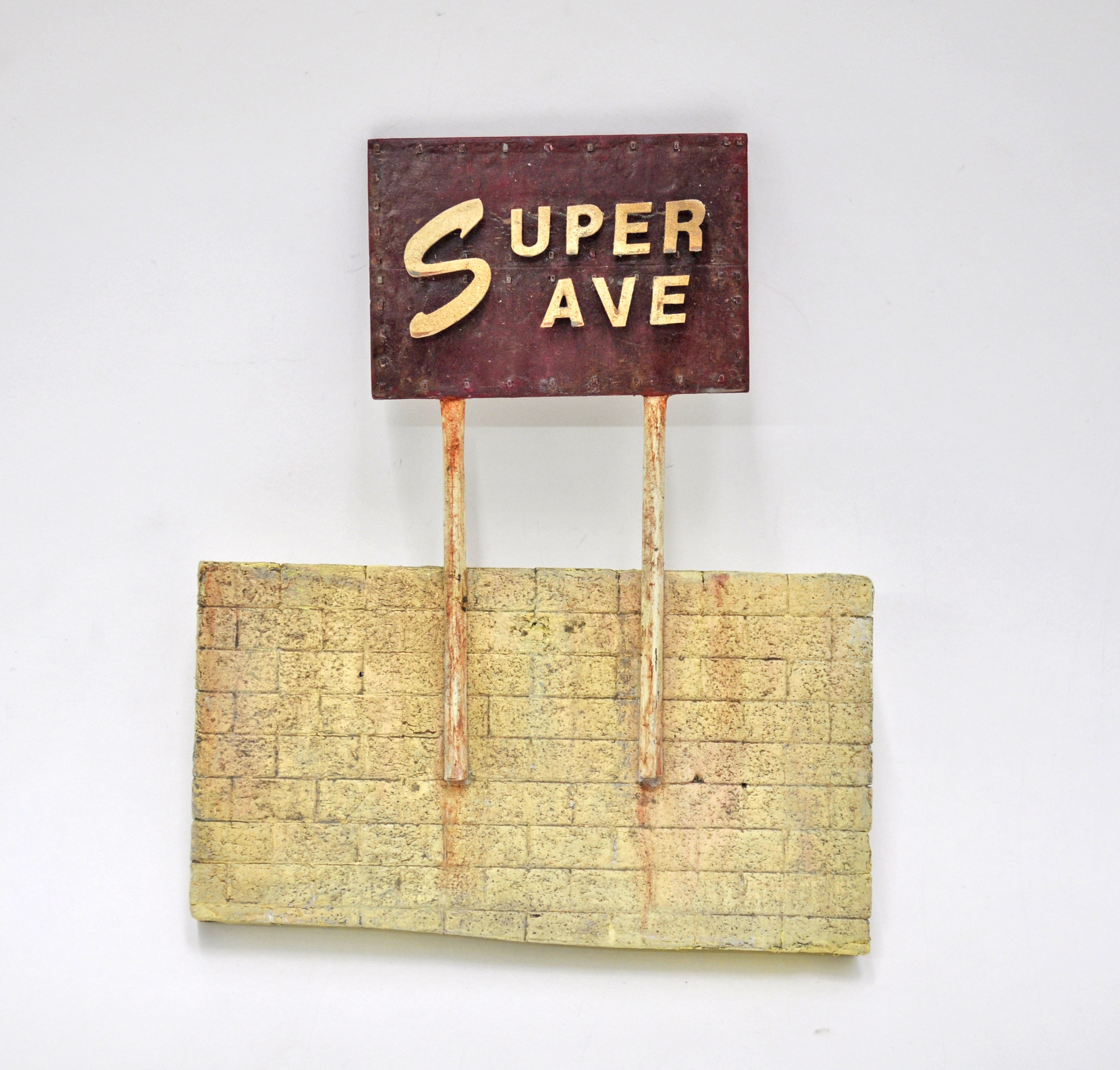 Malcolm Kenter, Super Save, 2019, Enamel and Latex on Plastic, Foam, 9 x 8 x 1in