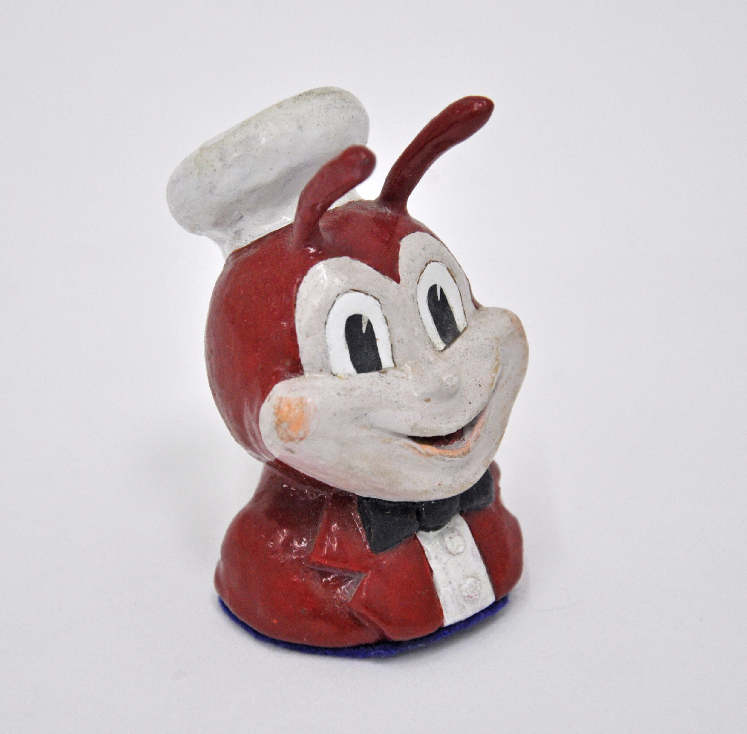 Malcolm Kenter, Jollibee E. Rodriguez, 2019, Enamel on Plasticine, 2 x 1.5 x 3 in