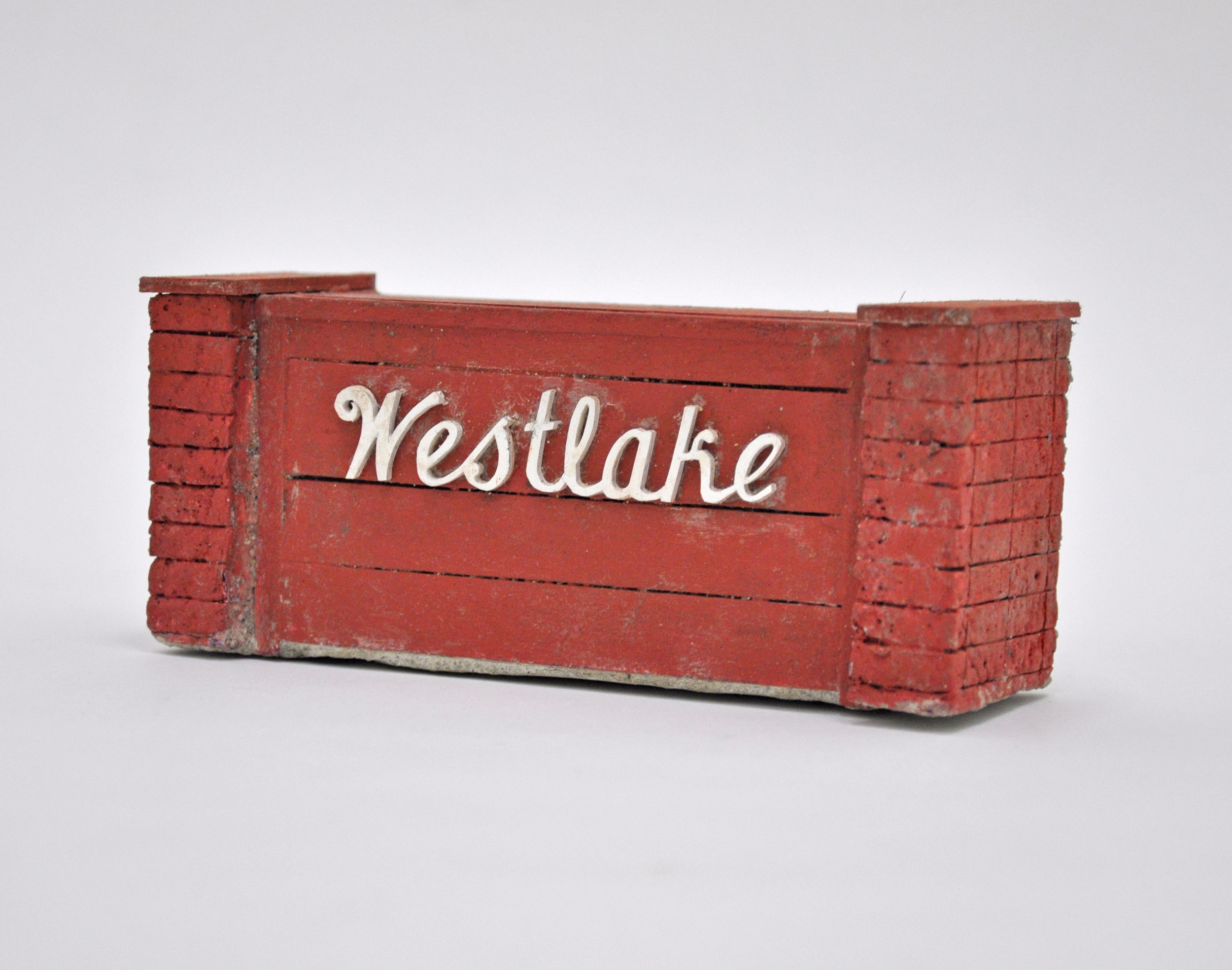 Malcolm Kenter, Westlake, 2019, Latex and Enamel on Wood, Foam, 6 x 2 x 3in