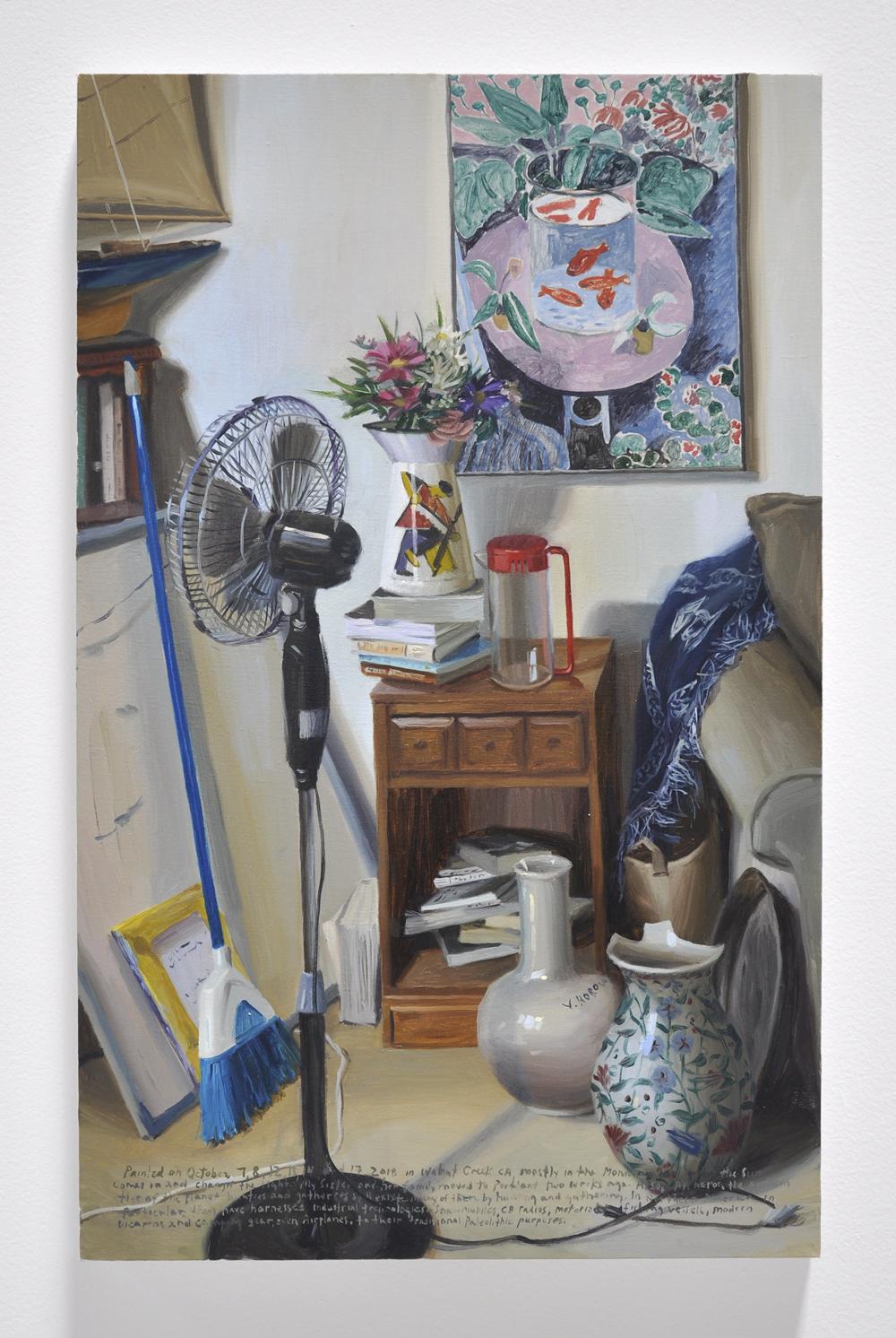 Terry Powers, Communist Vase, 35 x 22in, Oil on linen, 2018