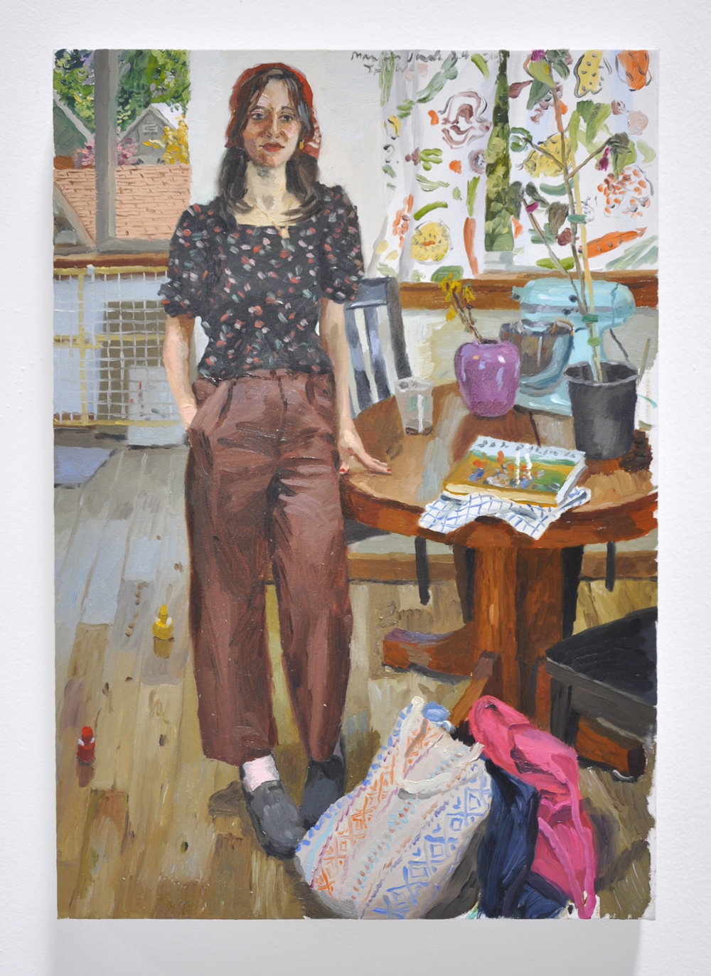 Terry Powers, Maryam in the Kitchen, 26 x 18in, Oil on linen, 2018