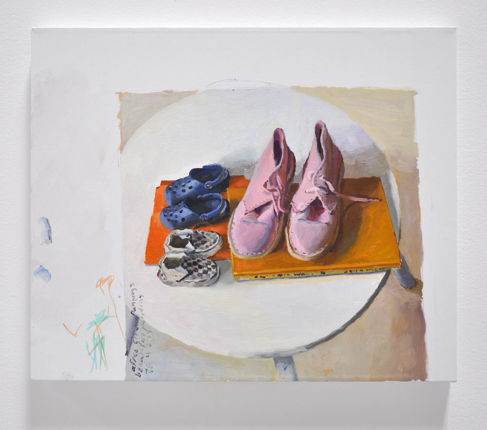 Terry Powers, Melissa and Wally's Shoes, 20 x 24in, Oil on linen, 2019