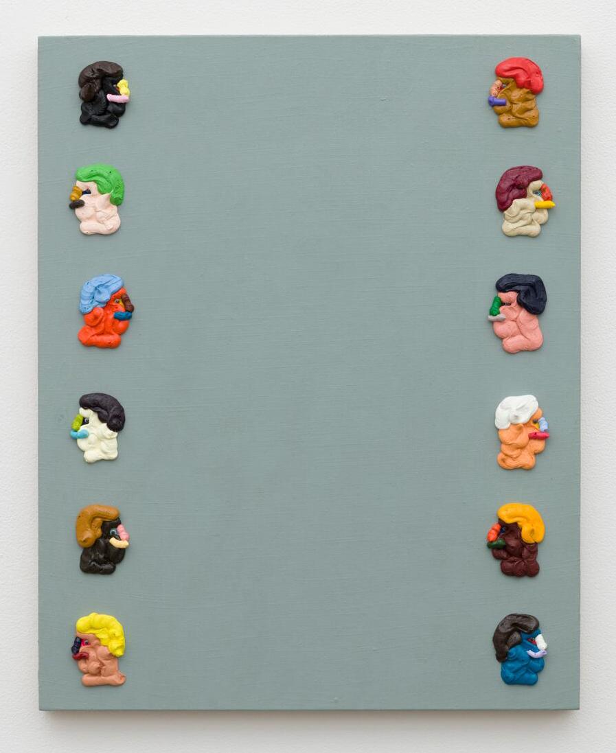 Adam Beris, Column, 30 x 24in, Oil on linen, 2019