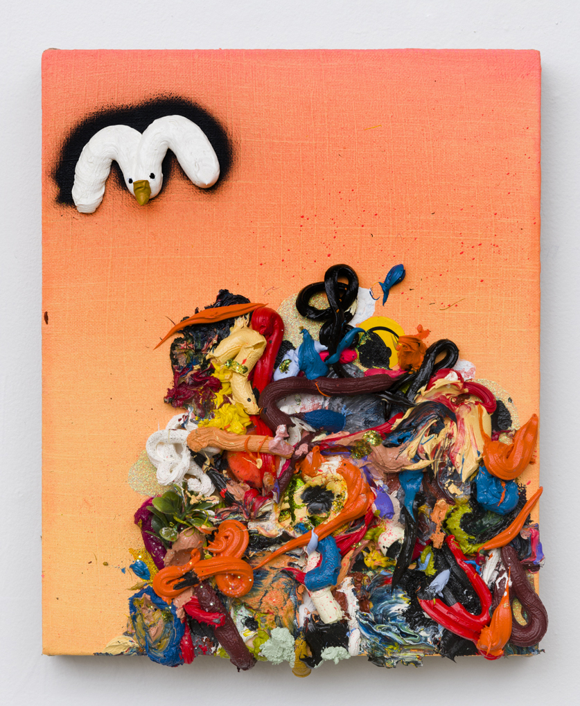 Adam Beris, Landfill Study, 12 x 10in, Oil on linen, 2019