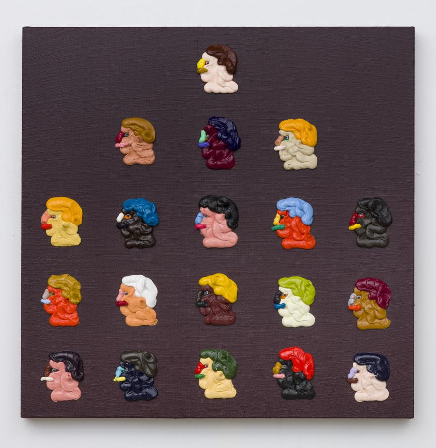 Adam Beris, Ponzi, 25 x 25in, Oil on linen, 2019