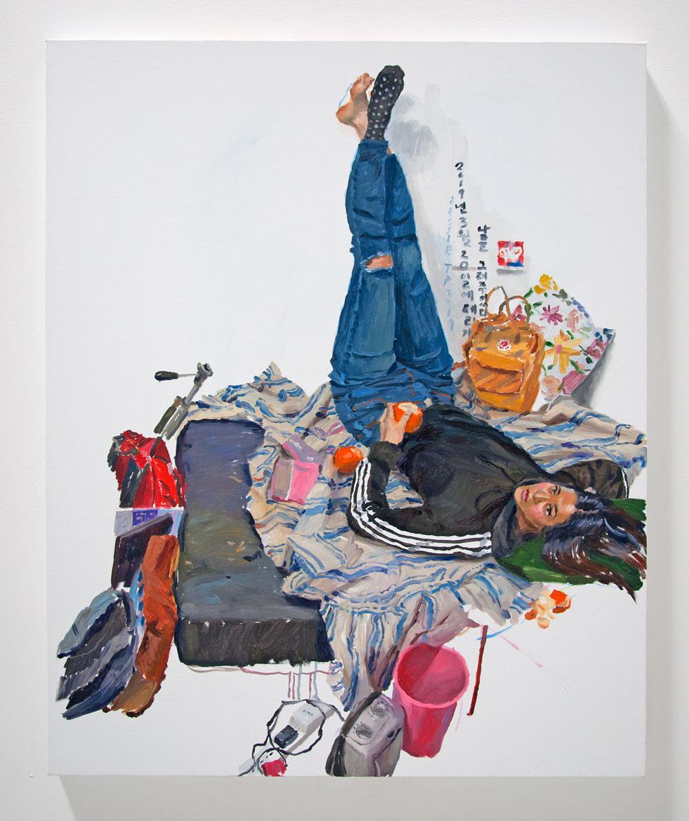 Terry Powers, Jessie in Her Studio, 2019, Oil on Linen, 32 x 22 in