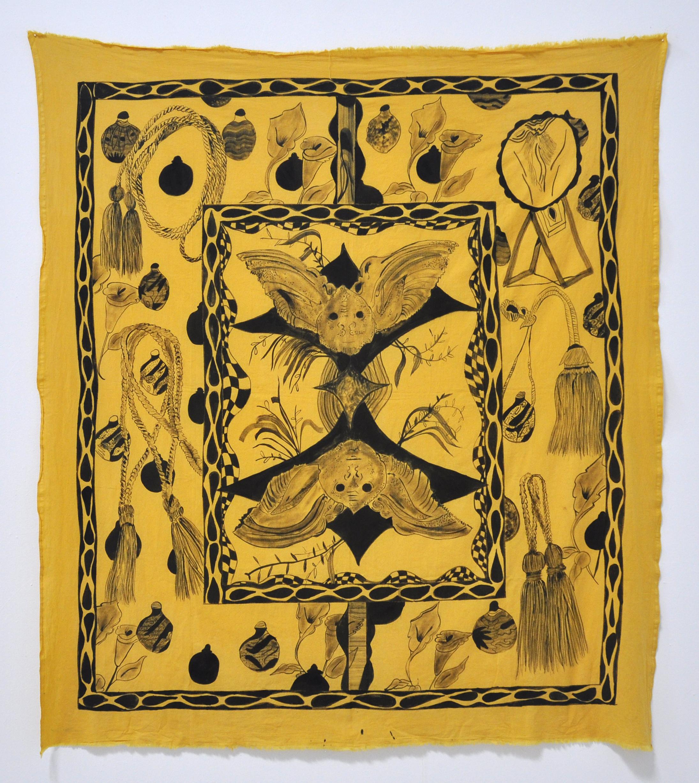 """Jamie Felton, """"Gemini Bats,"""" 66 x 59 in, 2017"""