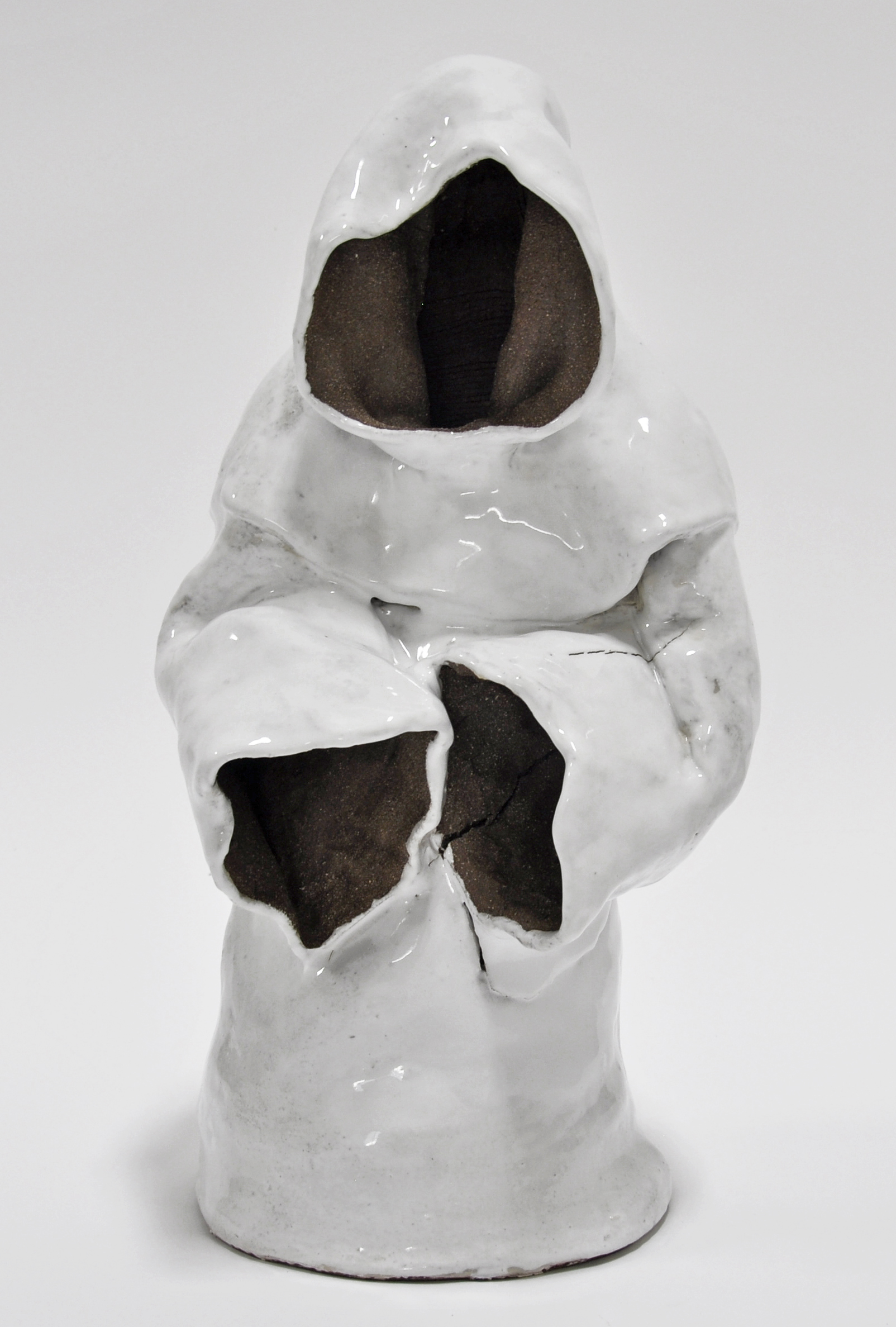 Nick Makanna, Mourner III, 2019, Glazed ceramic, 19 x 9 x 10 in, $2000