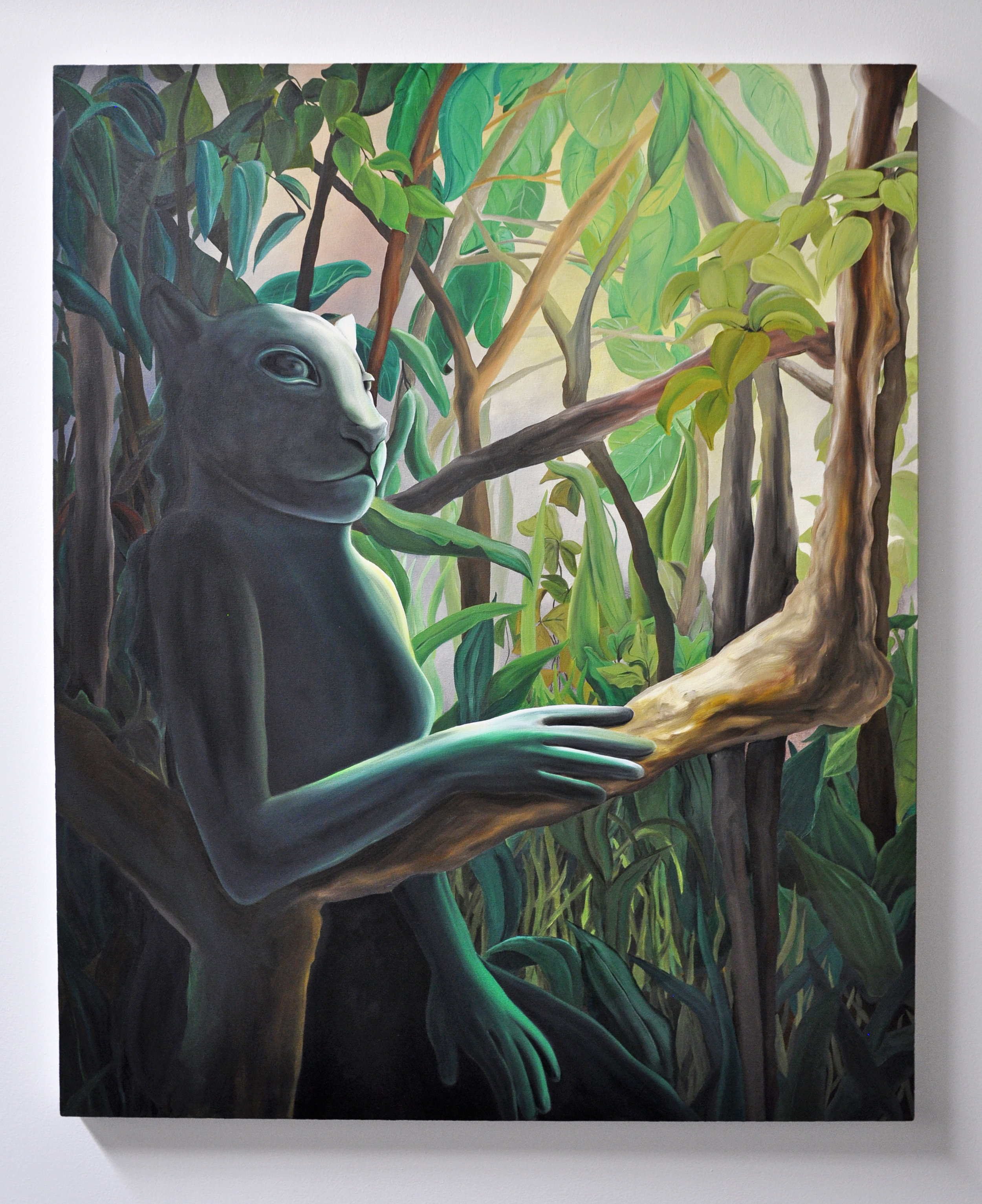 Courtney Johnson, Ficus, 2019, Oil on canvas, 42.5x52.5 in, $4,200