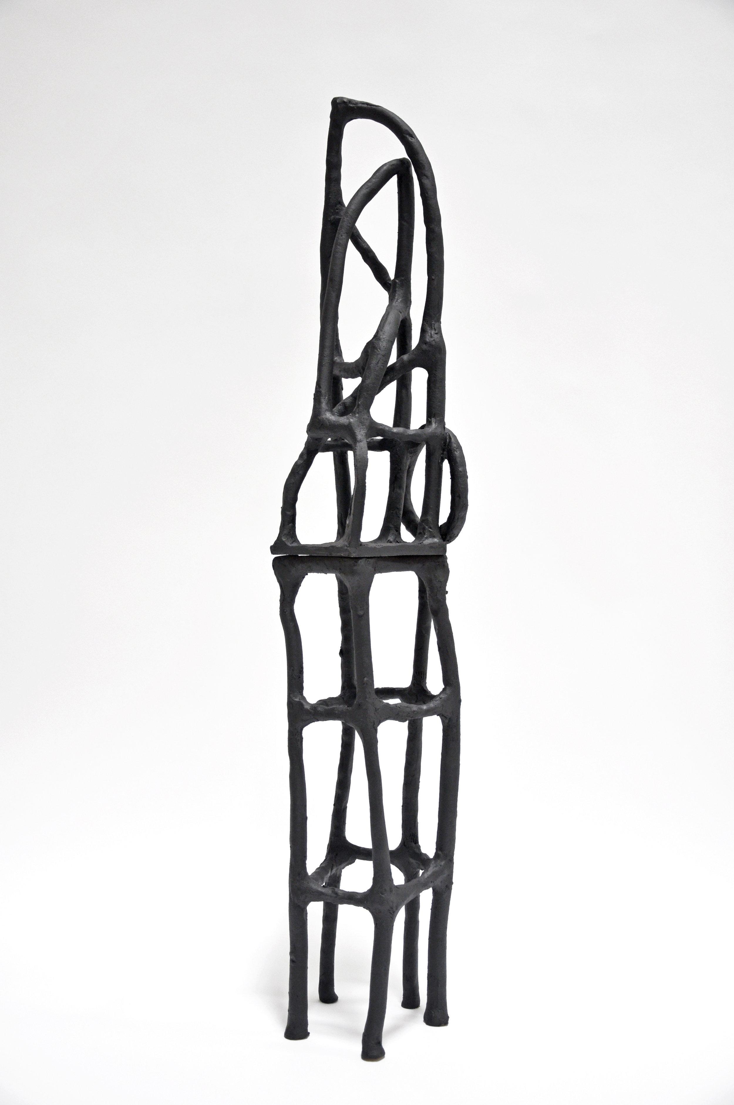 Nick Makanna, Rune XXXV, 2019, Glazed ceramic, 45 x 7.5 x 7 in, $2800