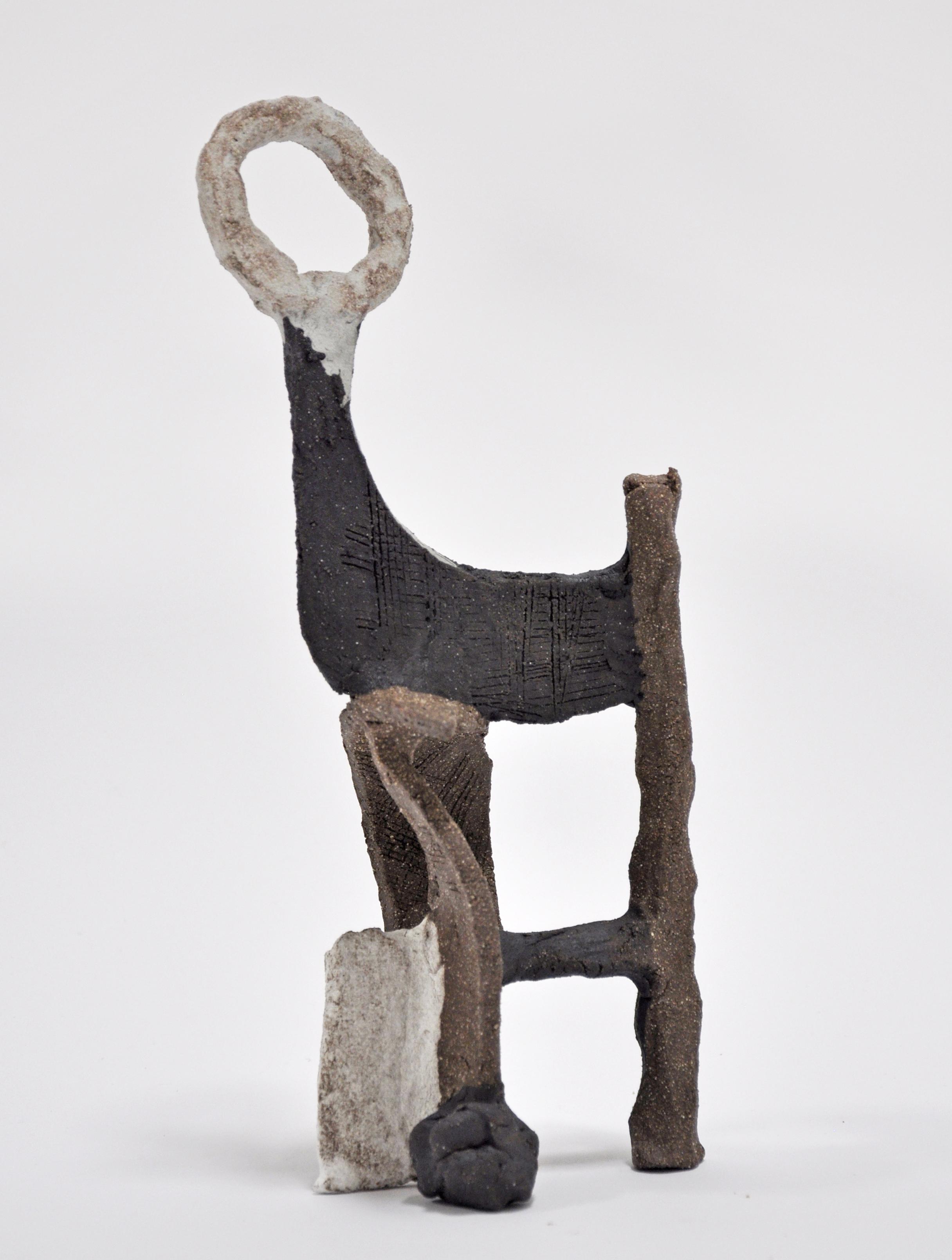 Nick Makanna. Rune Study IX, 13 x 5 x 6 in, Glazed ceramic, 2019