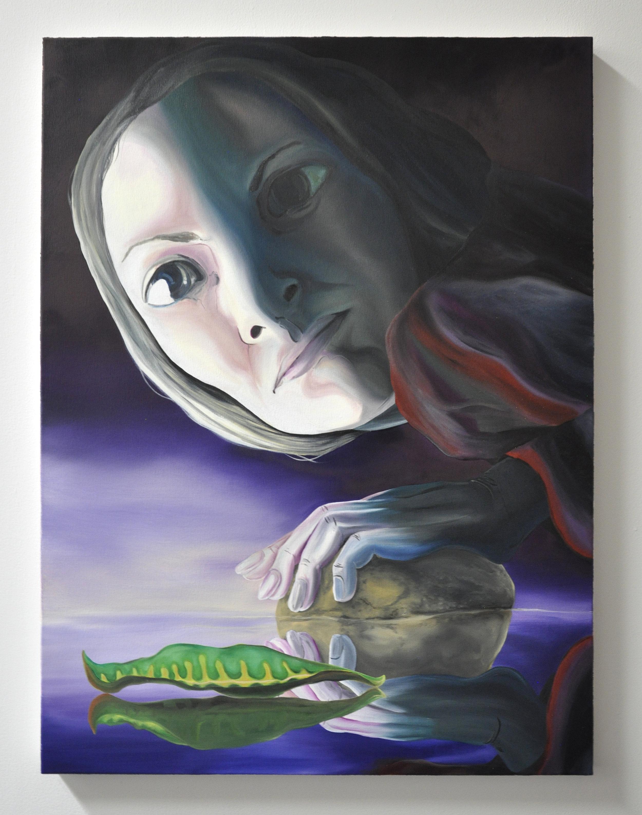 Courtney Johnson, Reptilian Brain #2, oil on canvas, 30 x 40 in, 2019