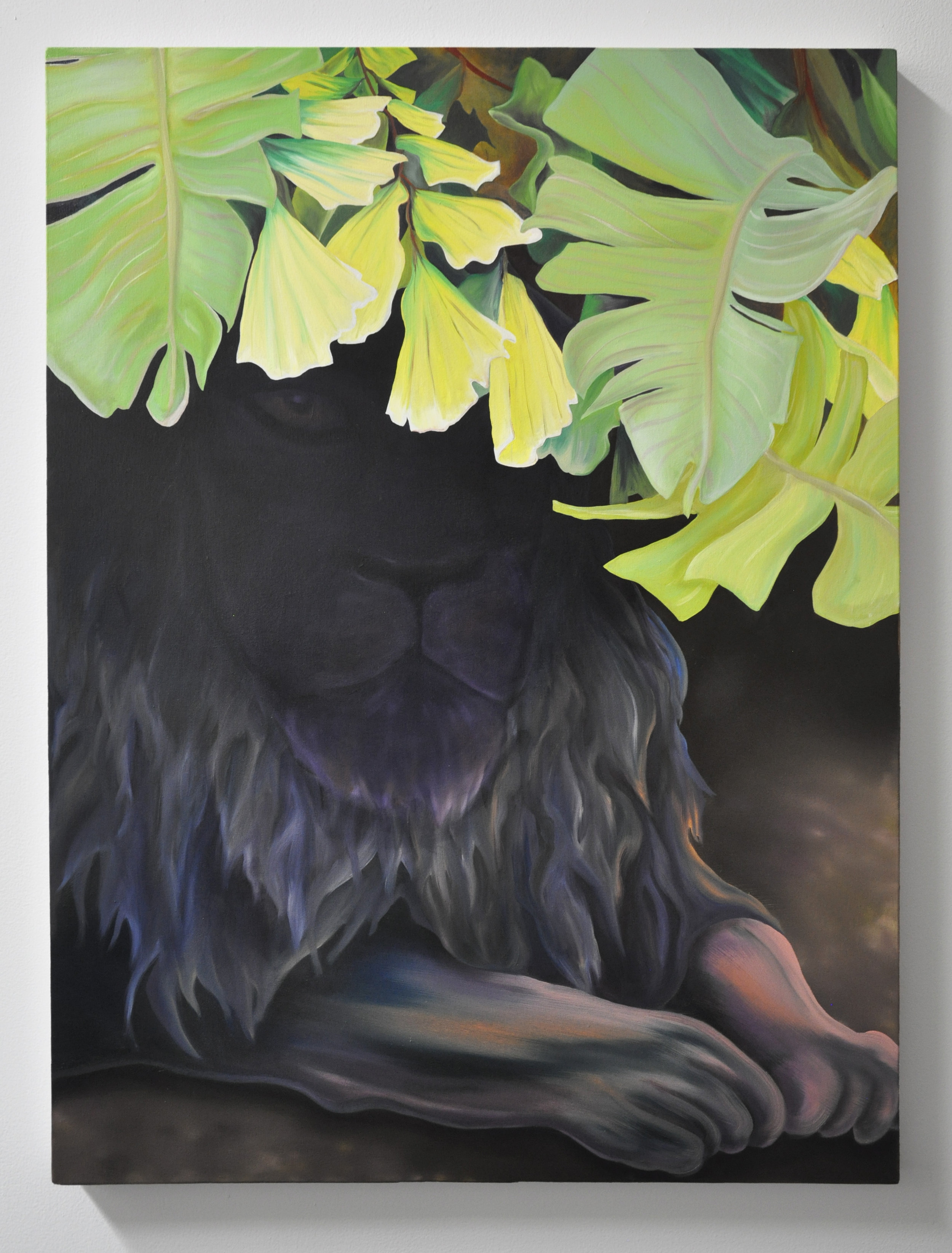 Courtney Johnson, Lion, oil on canvas, 30 x 40 in, 2019
