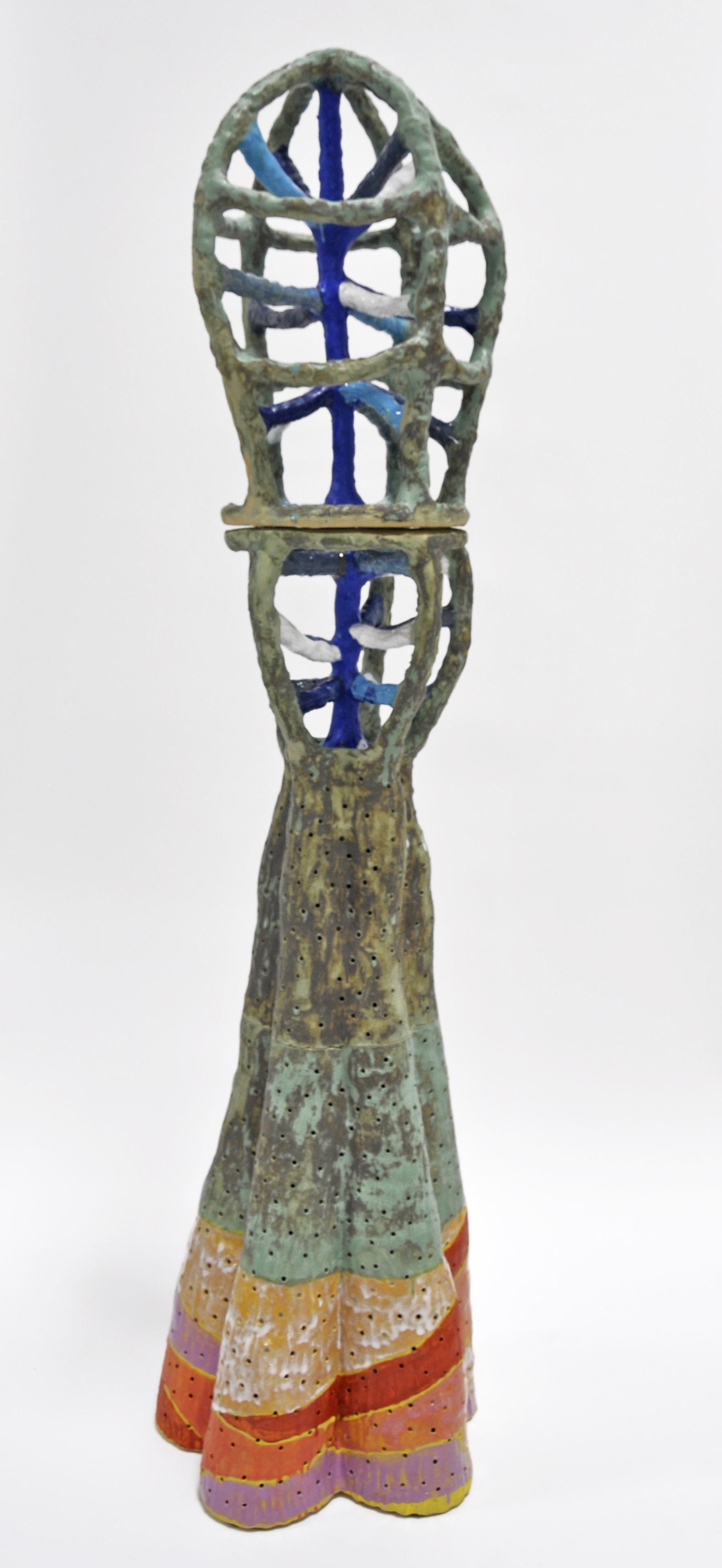 """""""RUNE XXXI"""", Glazed ceramic,  69 x 16 x 16 in, 2019"""