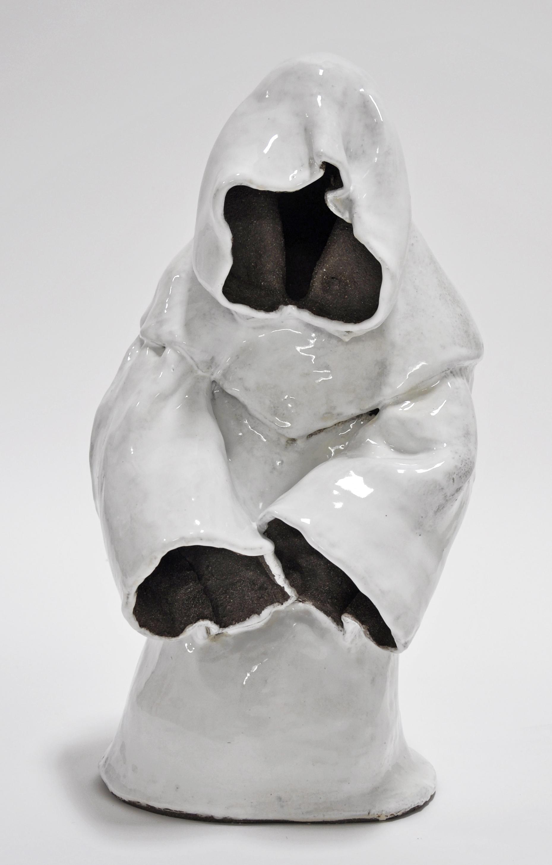 """""""MOURNER IV"""", Glazed ceramic, 19 x 9 x 10 in, 2019"""