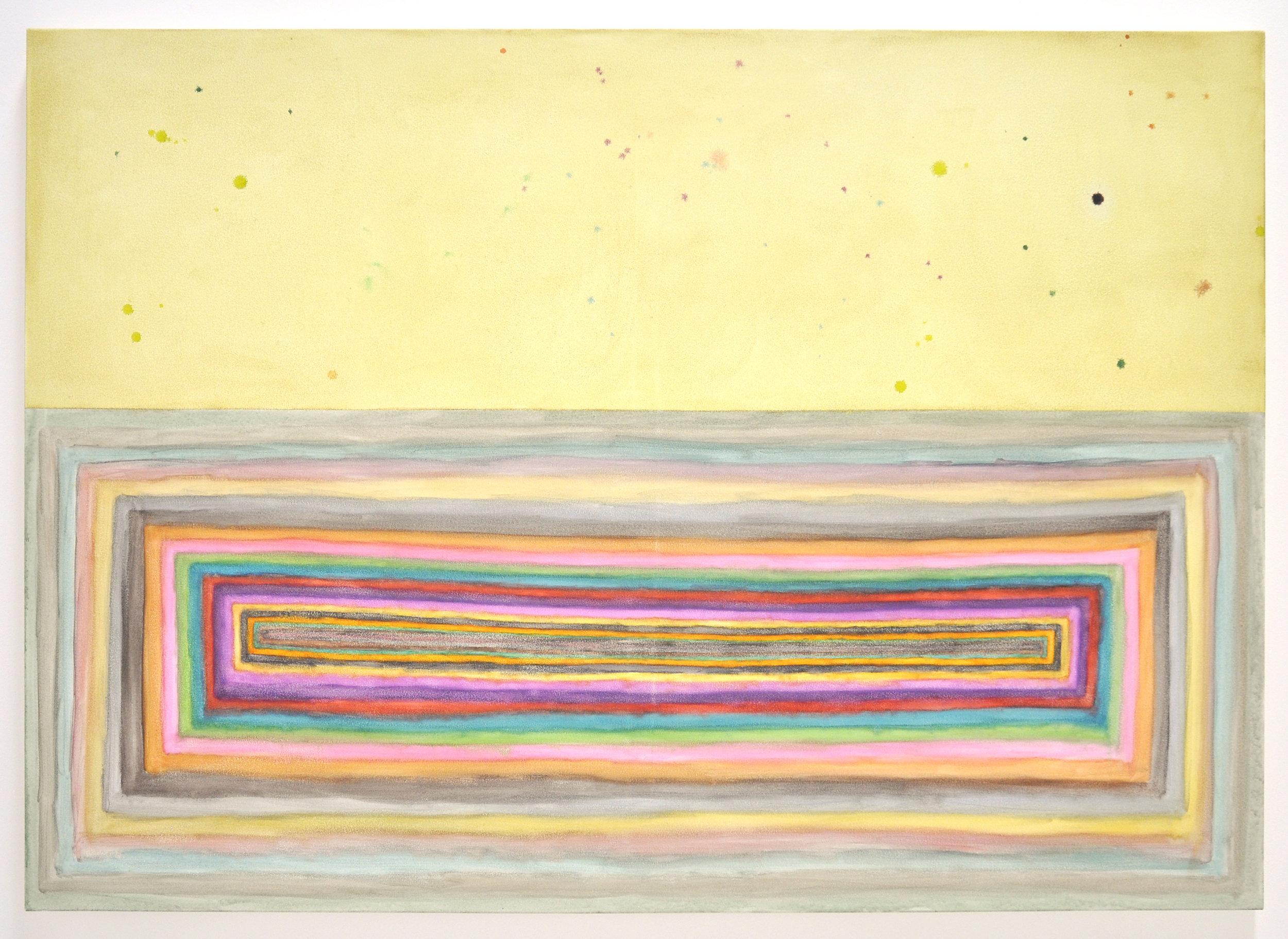 """Ben Quinn, """"Dreamer's Portal"""", Watercolor, uv varnish on canvas, 60 x 48 in, 2018"""