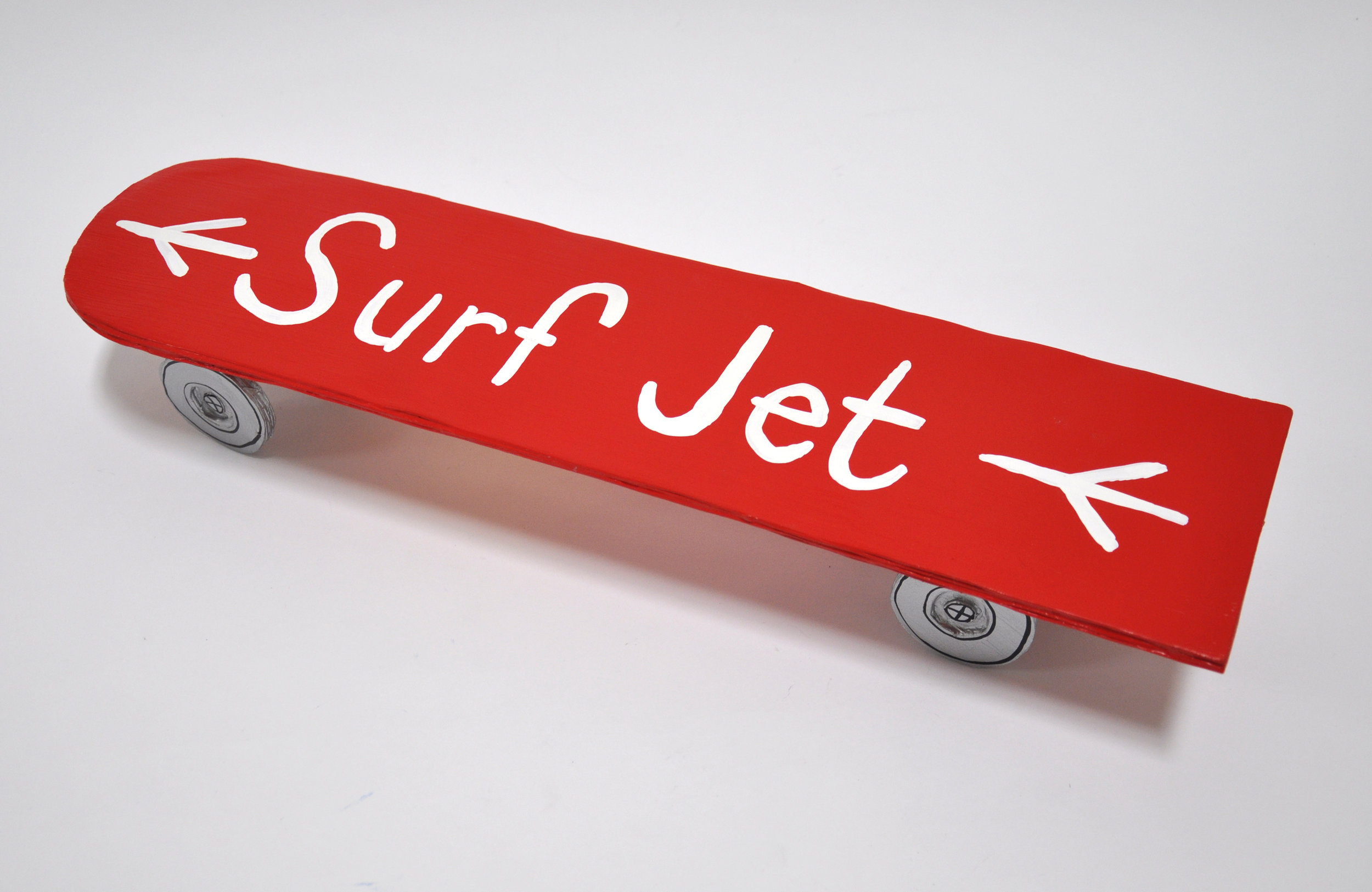 """Libby Black, """"Surf Jet"""", paper, glue, acrylic paint, 2018"""
