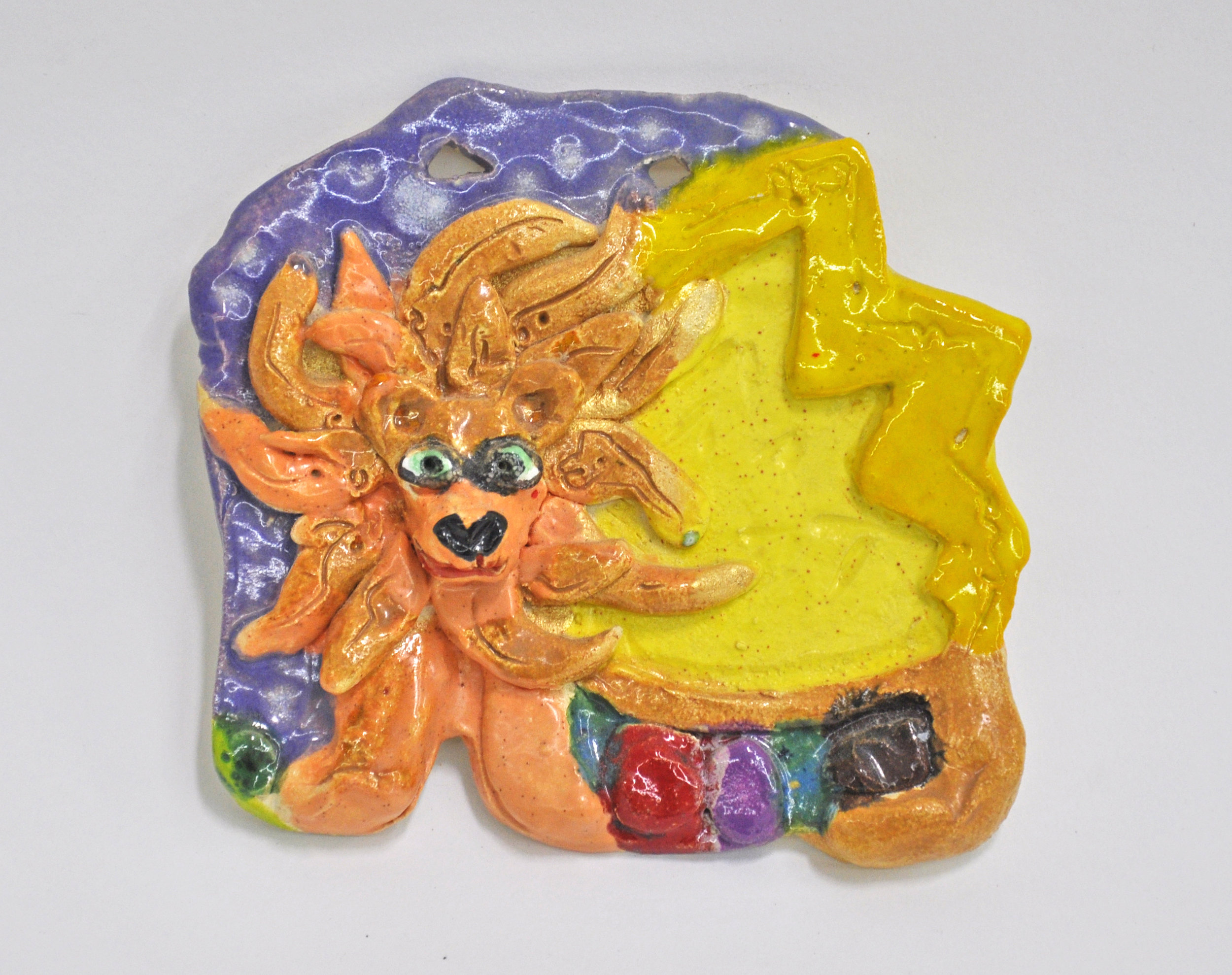 "Maija Peeples-Bright, ""Sum of a Lion"", glazed ceramic, 5 1/2 x 1 x 5 in, 2004"