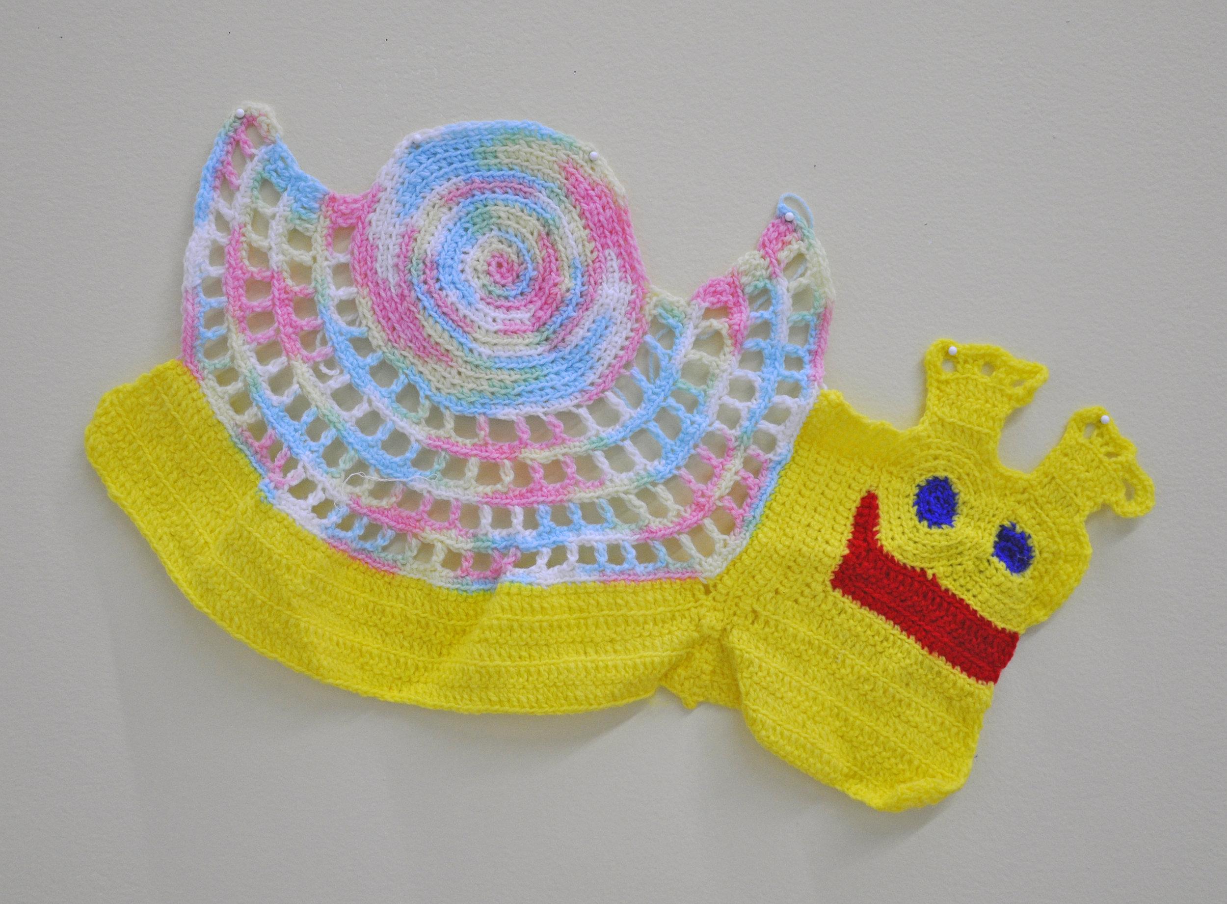 """Maija Peeples-Bright, """"Knit 4"""", yarn, 21 x 13 in"""