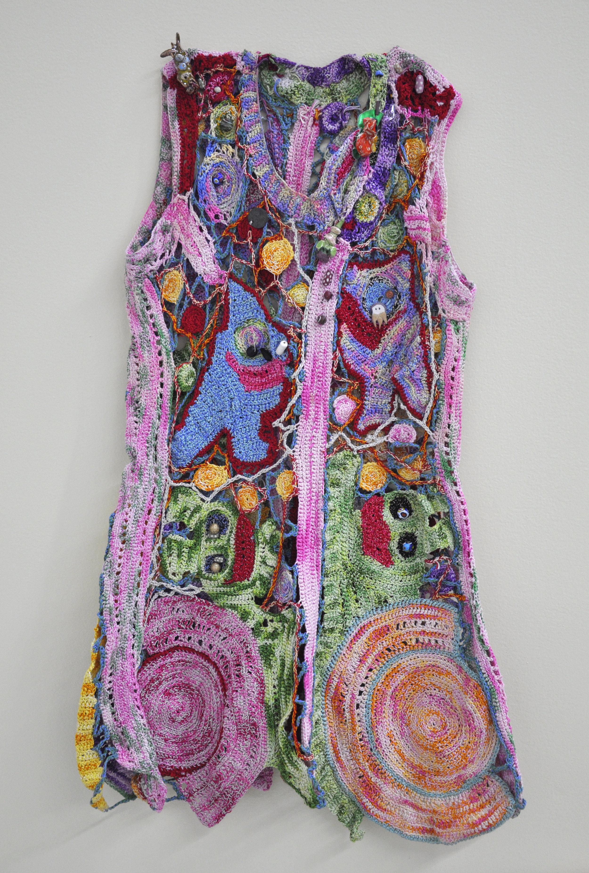 """Maija Peeples-Bright, """"Knit 3"""", yarn, 33 x 19 in"""