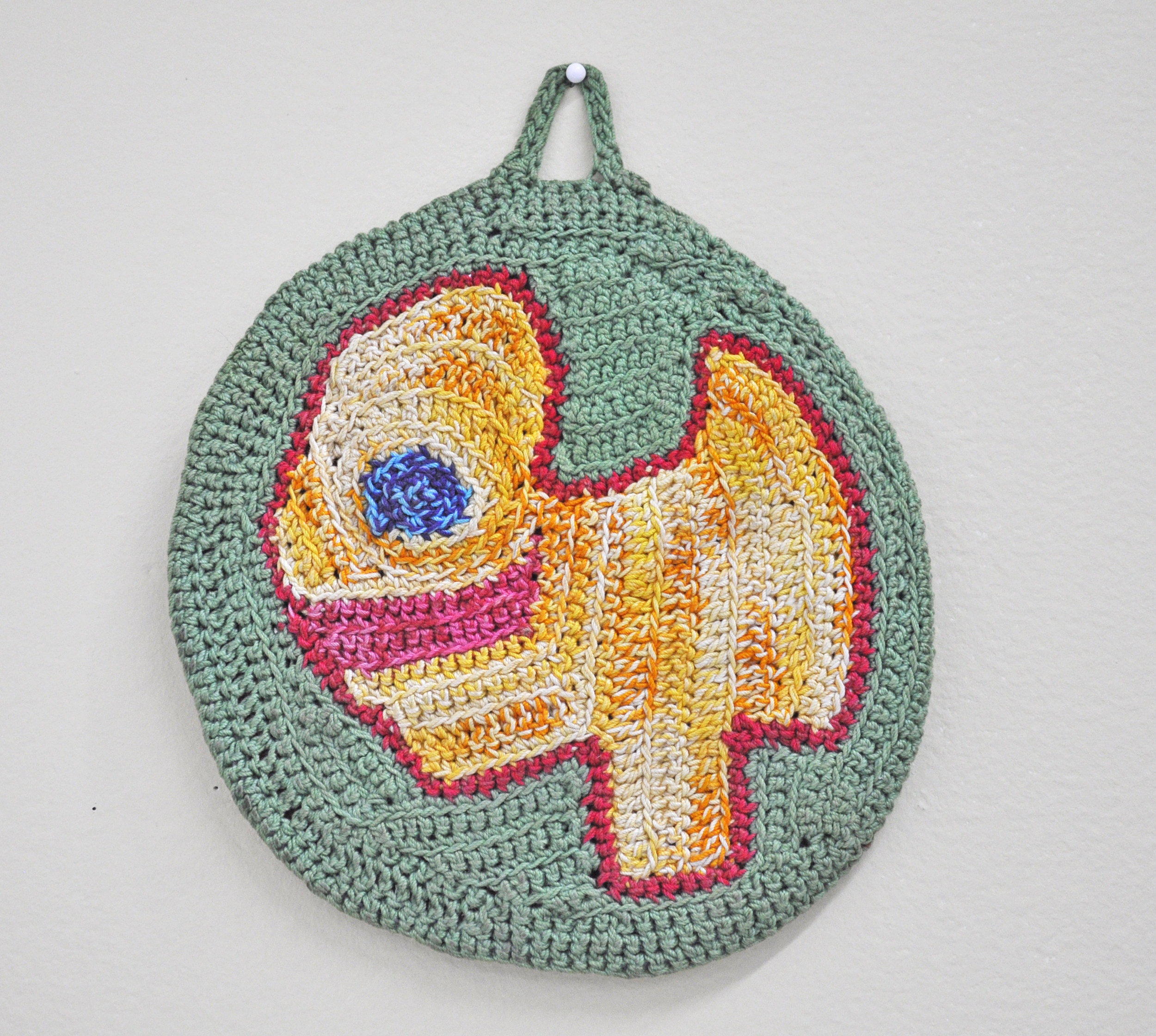 """Maija Peeples-Bright, """"Knit 7"""", yarn, 8 x 7 in"""