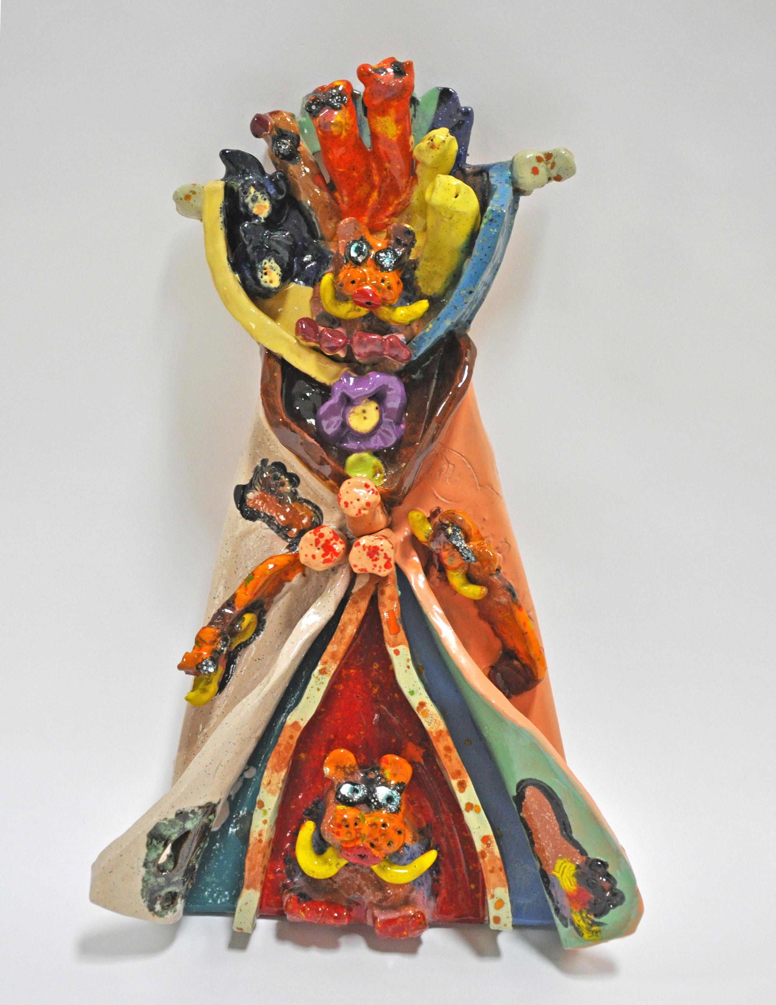 """Maija Peeples-Bright, """"Walrus Wigwam"""", glazed ceramic, 15 x 3 x 9.5, 2003"""