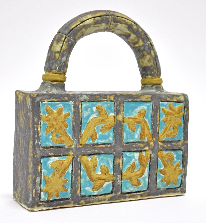 "Maryam Yousif, ""Cosmic Handbag: Branches"", glazed stoneware, 11.5 x 3.5 x 13.5 in, 2019, $1200"
