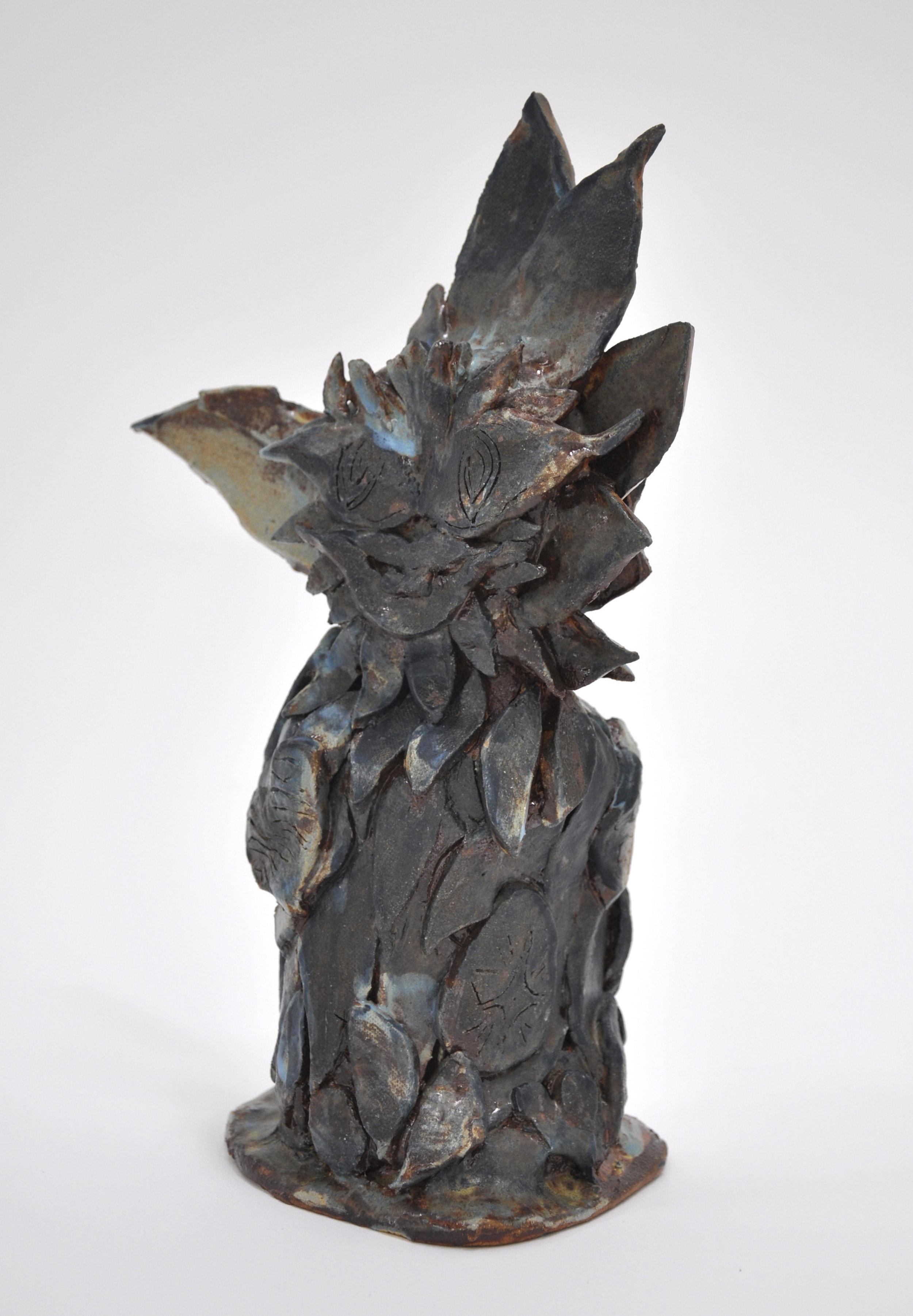"""Copy of Jamie Felton, """"Swamp Sunflower"""", 13 x 5 x 5in, Glazed ceramic, 2019"""