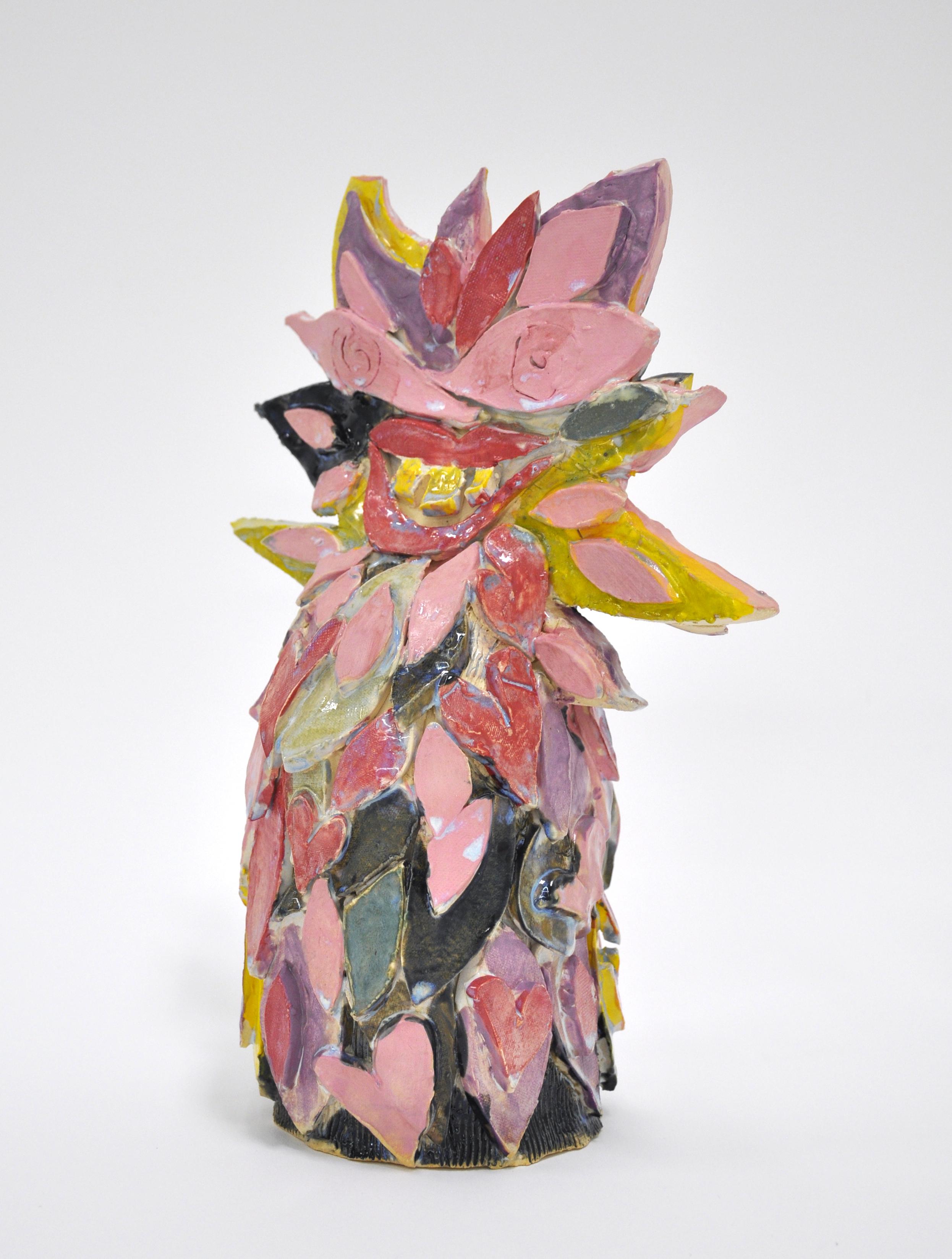 """Copy of Jamie Felton, """"Prairie Sunflower"""", 12 x 5 x 5in, Glazed ceramic, 2019"""