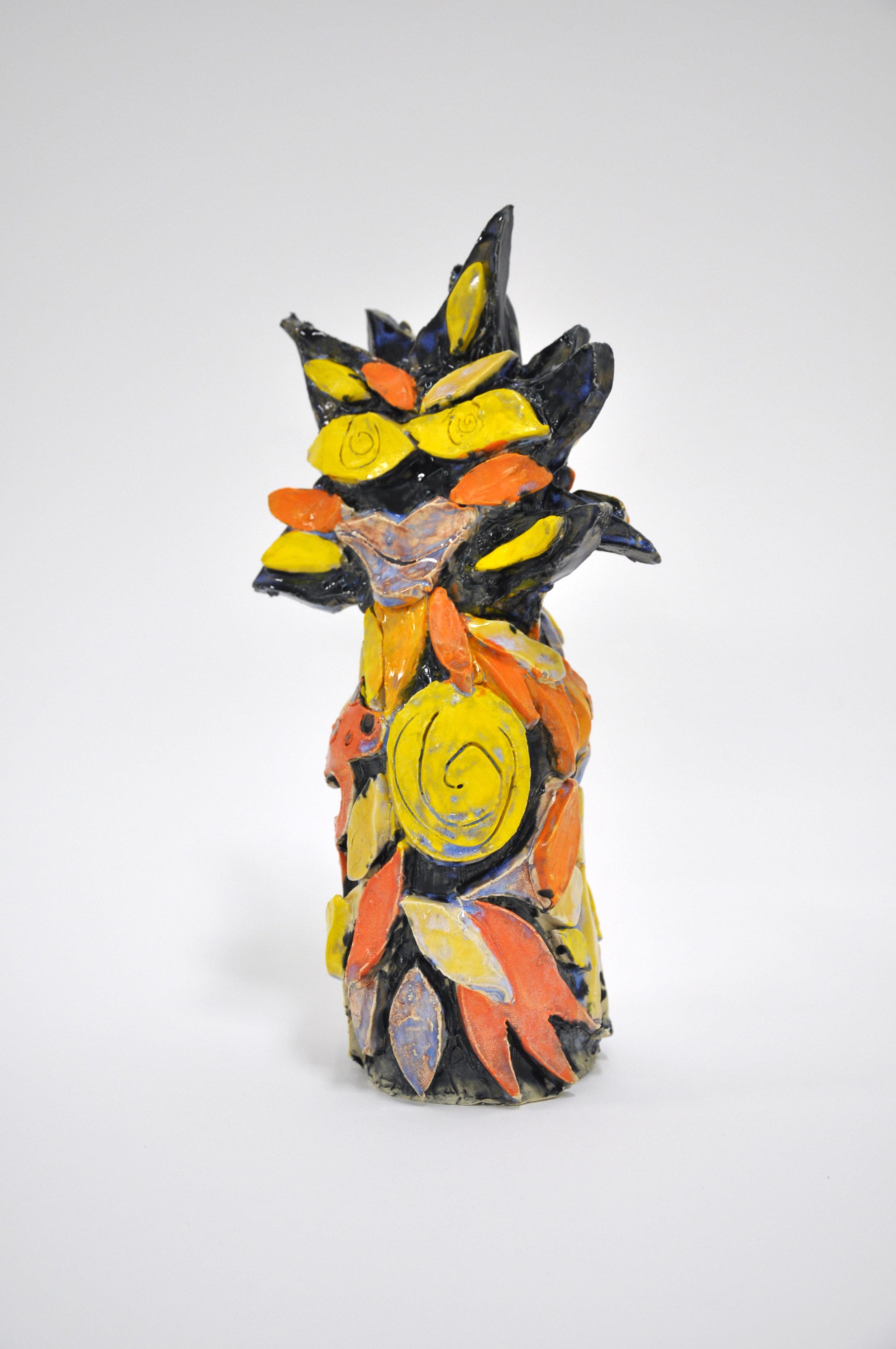 Copy of Jamie Felton, Thinleaf Sunflower, 13 x 4 x 4in, Glazed ceramic, 2019