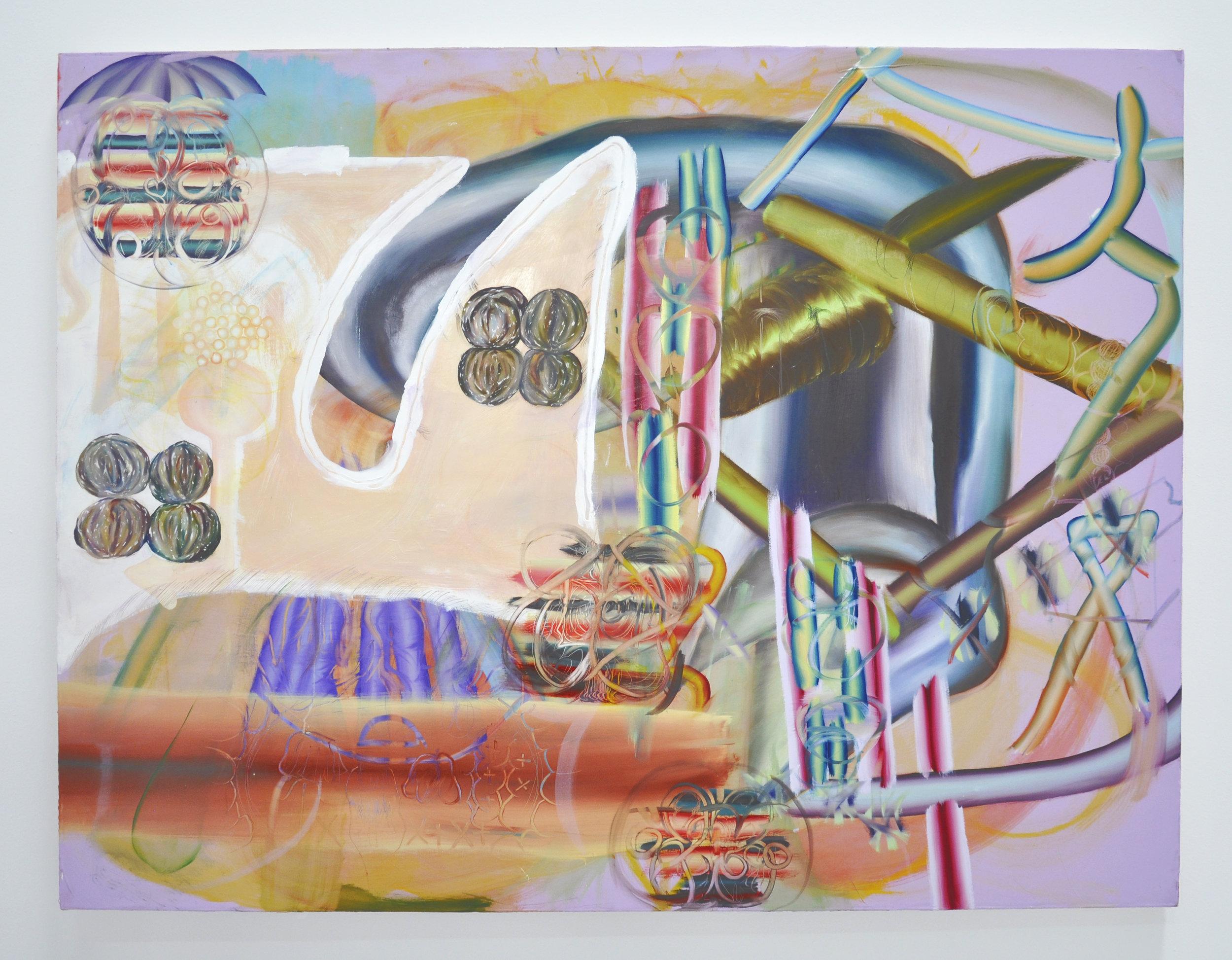 "Copy of Lauren Quin, ""Test Prick Target Site"", 54 x 70 in, Oil on canvas, 2019"