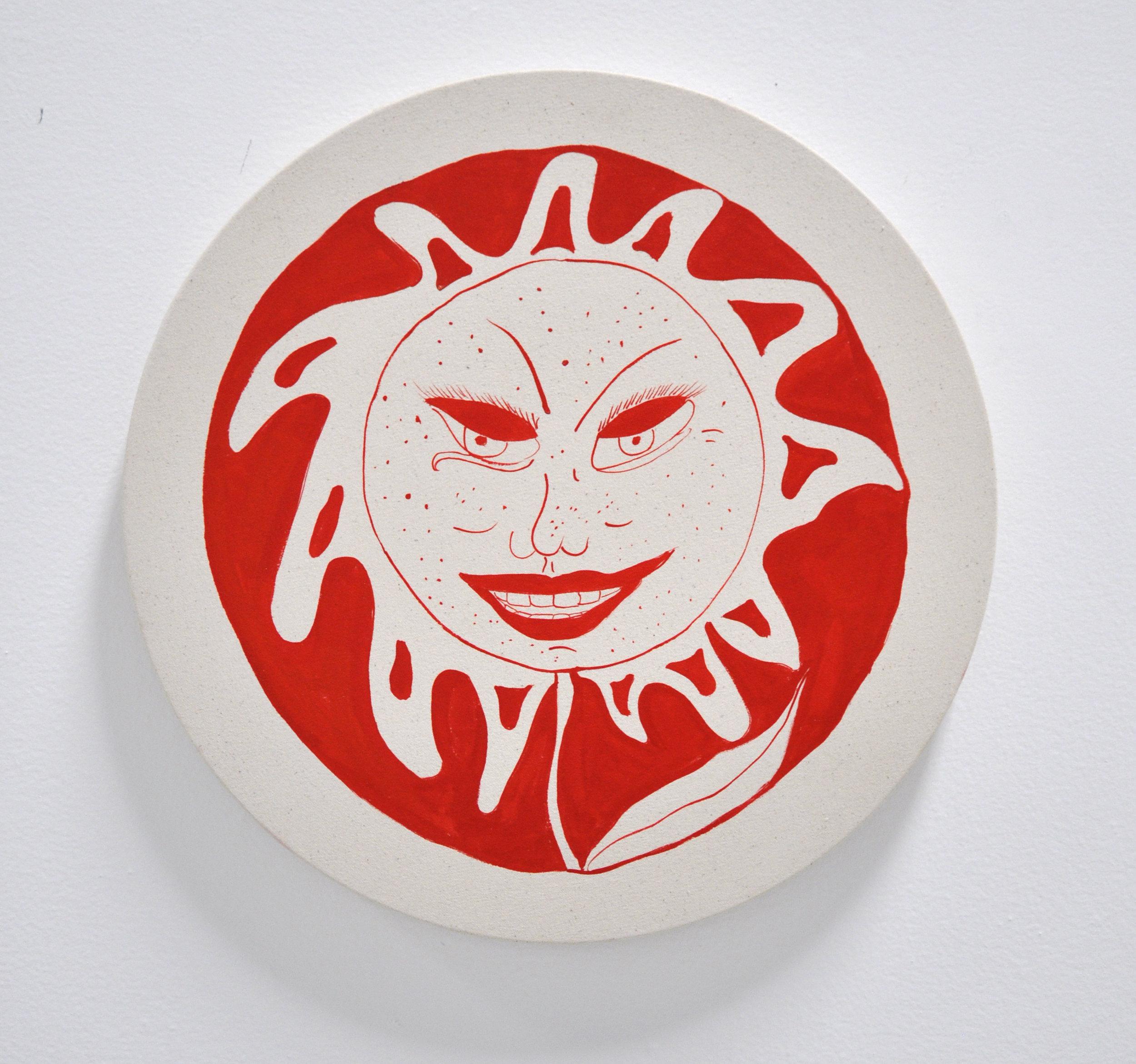 """Copy of Jamie Felton, """"Sunflower 1"""", 18 x 18in, Glazed ceramic, 2019"""