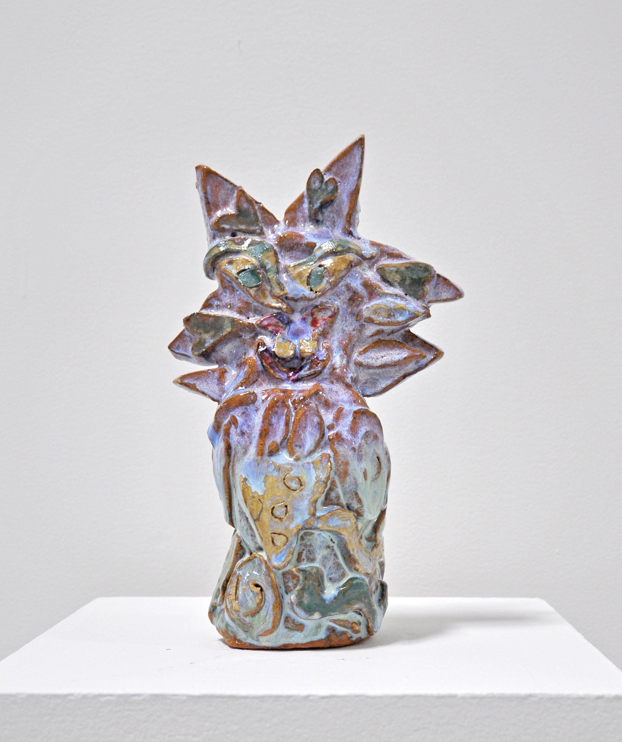 Copy of Jamie Felton NEGLECTED SUNFLOWER, 12 x 4 x 4in, Glazed ceramic, 2019