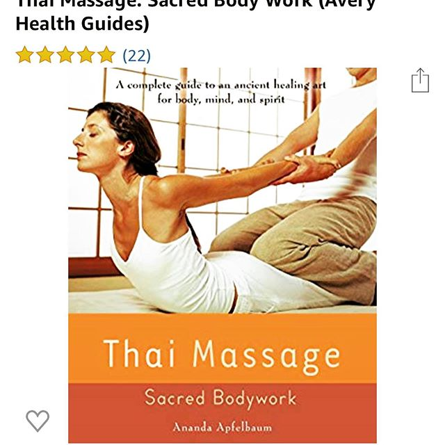 "THAI MASSAGE BOOKS I RECOMMEND: The first Thai massage book I read was by @thaimassageny . I've never taken her live courses in NY, but her captivating writing started my brain thinking about possibilities of travel one day. Later, I read @maria_mercati_uk and kept her book in my room at the spa I worked @canyonranchlv and I practiced off her diagrams. As I advanced in my practice, I worked @mo_hotels giving Thai bodywork, and I became aware of @kamthyechow (RIP🙏🏼) and I still enjoy watching his YouTube videos and re-reading his work. When I visited @sivanandabahamas , where he used to teach, I felt his presence and appreciation for the beauty there. ""Seven Peppercorns"" by @nephyr is an amazing resource on theory, and ""Thai massage & Thai Healing Arts"" by Bob Haddad is incredibly informative on the true history of Thai massage. I recently was gifted a book on Partner Yoga written by @pbpartneryoga and it has amazing illustrations of Partner yoga + Thai massage. What are your favorite massage/or Thai massage books? Any recommendations? 📖🤓. #thaimassage #thaimassagecourse #reading #massagetherapy #massagetherapist #continuingeducation #thaiyogamassage #traditionalthaimassage #thaiyoga #partneryoga #yoga #alwaysastudent #losangeles #thousandoaks #thailand #thaibodywork #bodywork #massage #reader #massagelife"